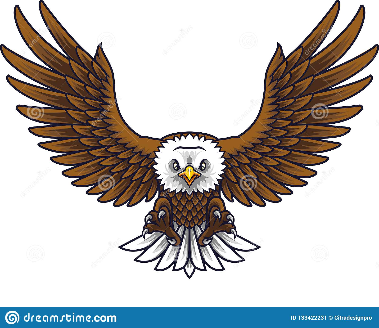 Beeldverhaal Eagle Mascot