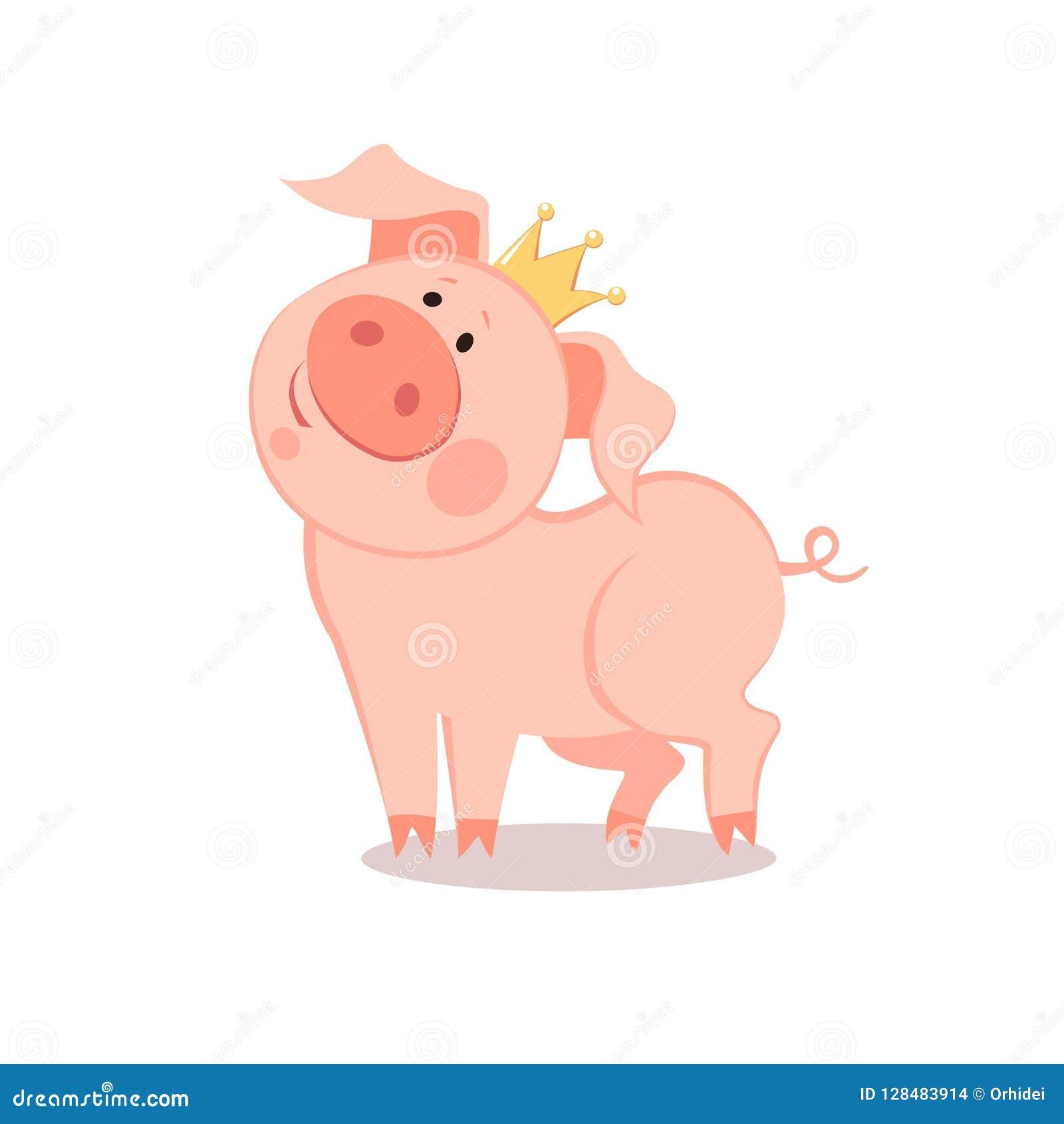 Beeldverhaal weinig prins Pig Het Jaar van het Varken Chinees Nieuwjaar