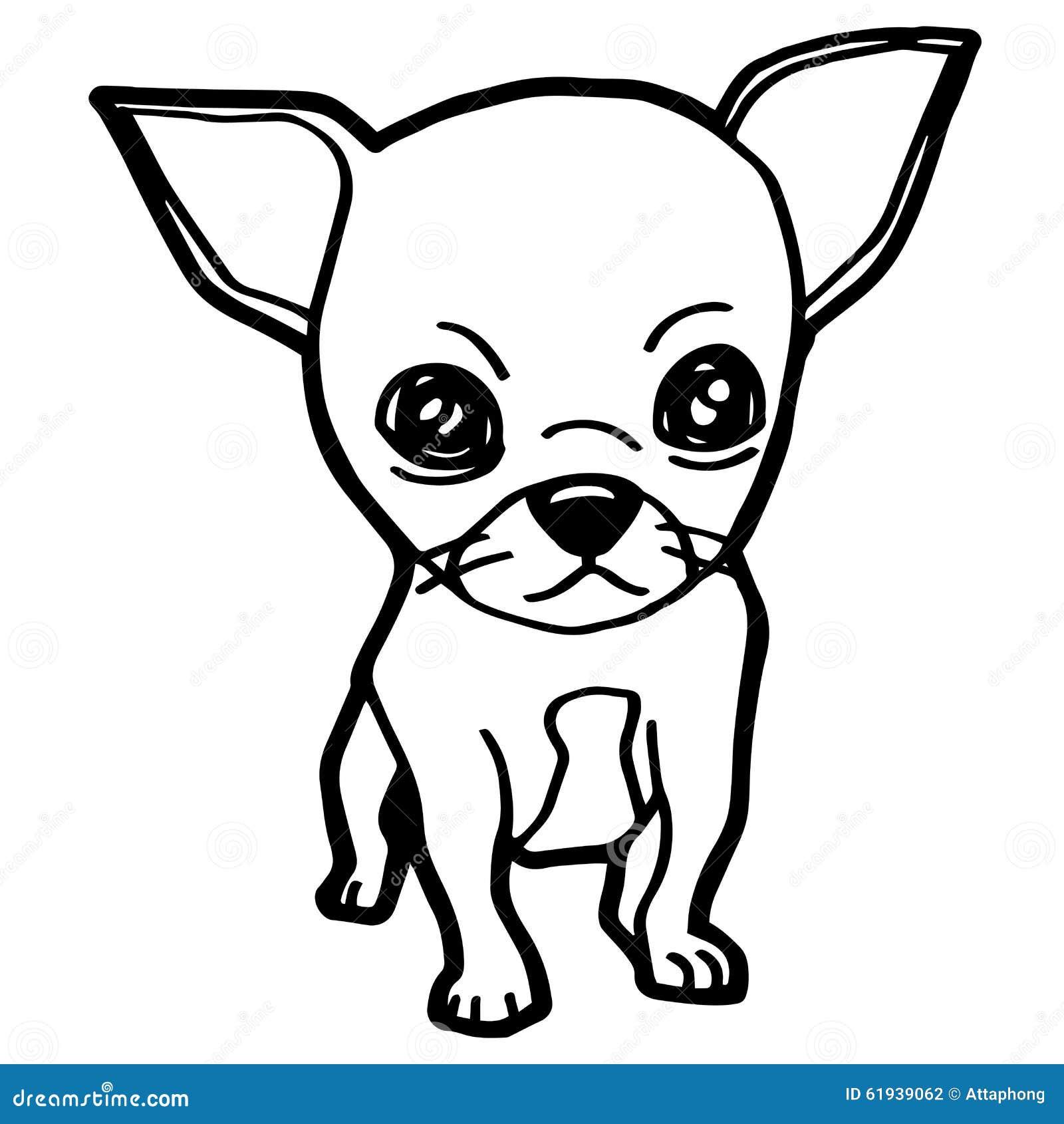 beeldverhaalillustratie van grappige hond voor het kleuren