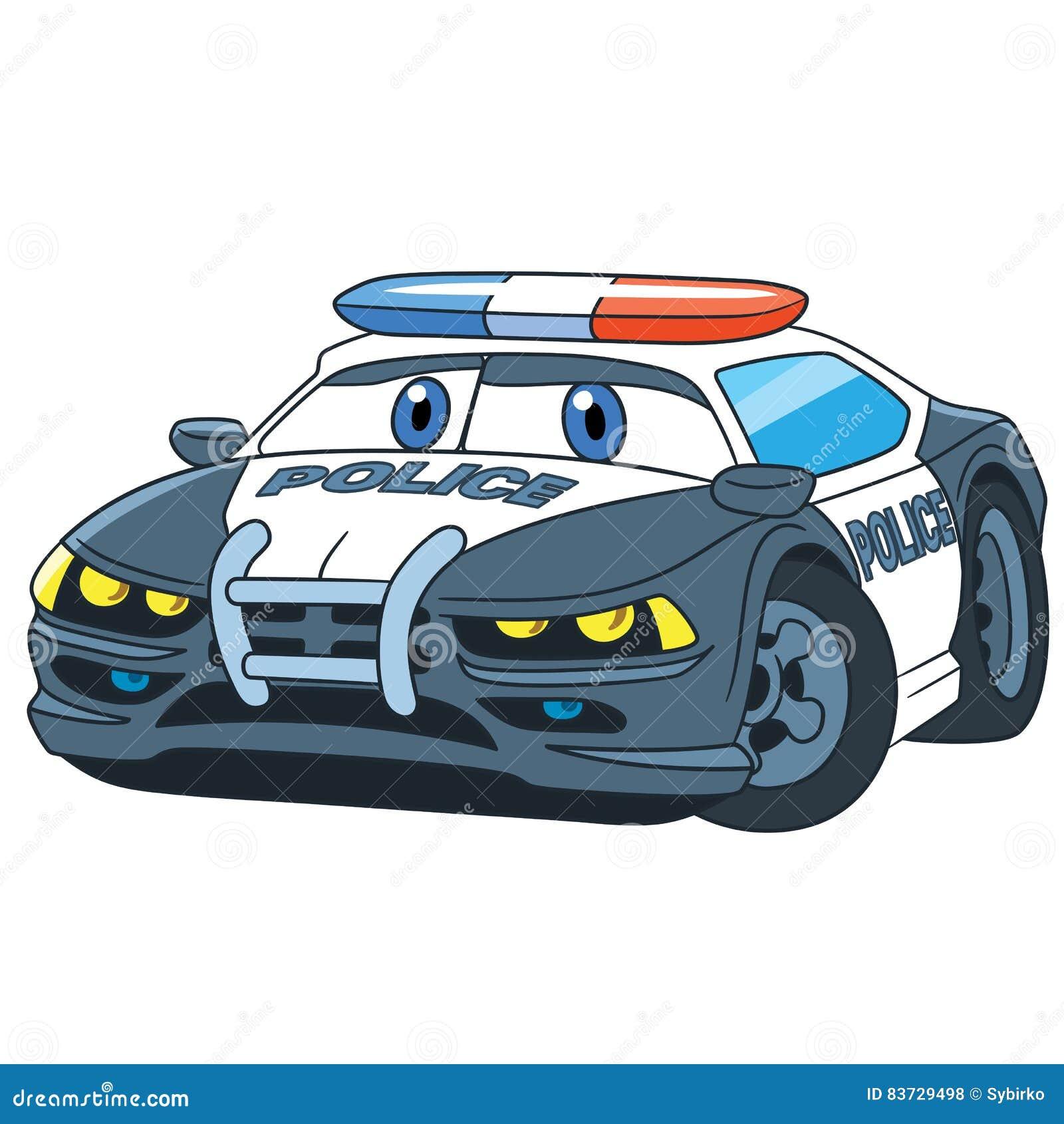 Beeldverhaalpolitiewagen