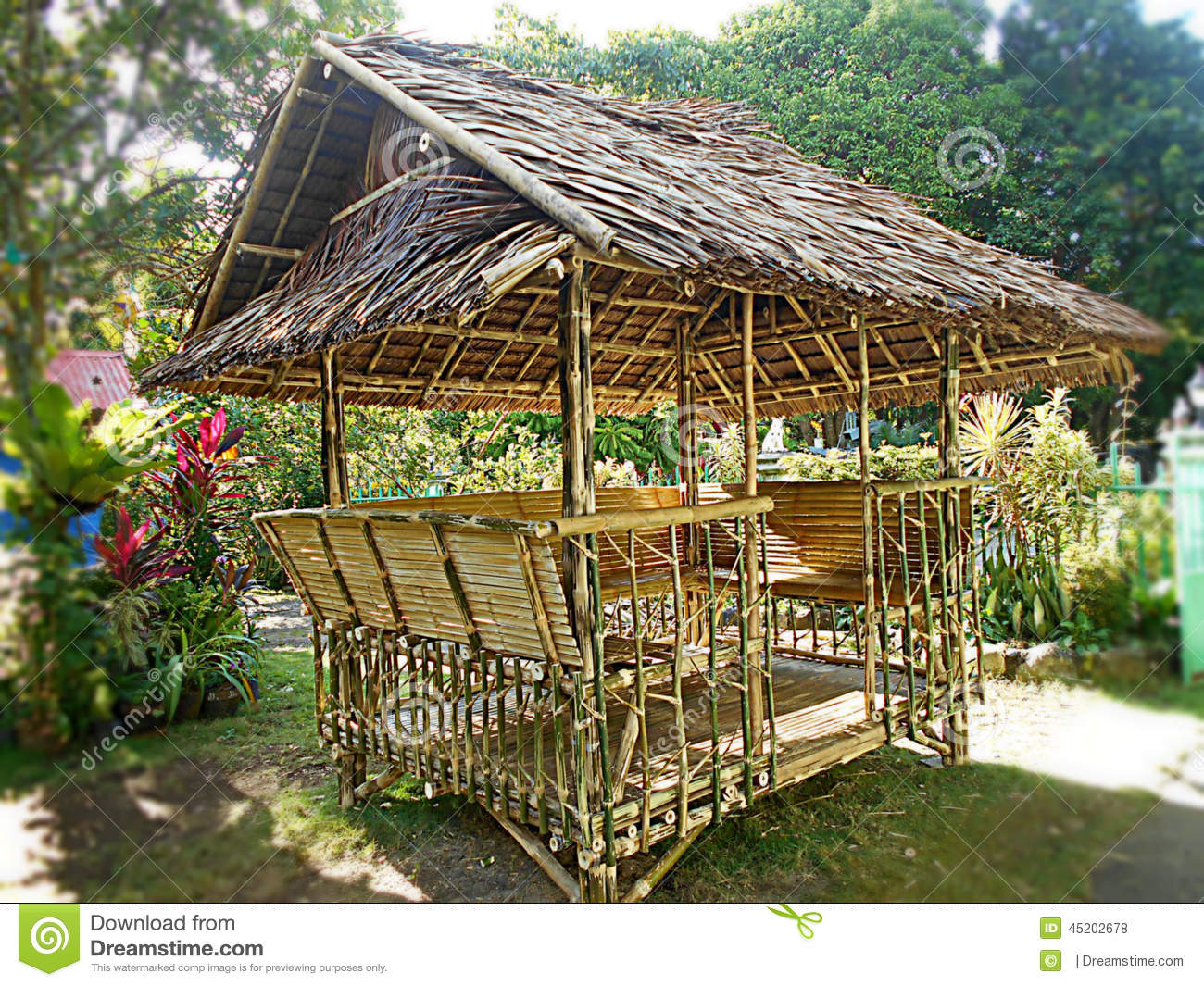Beema house editorial stock photo image of house bamboo for Small house design made of bamboo