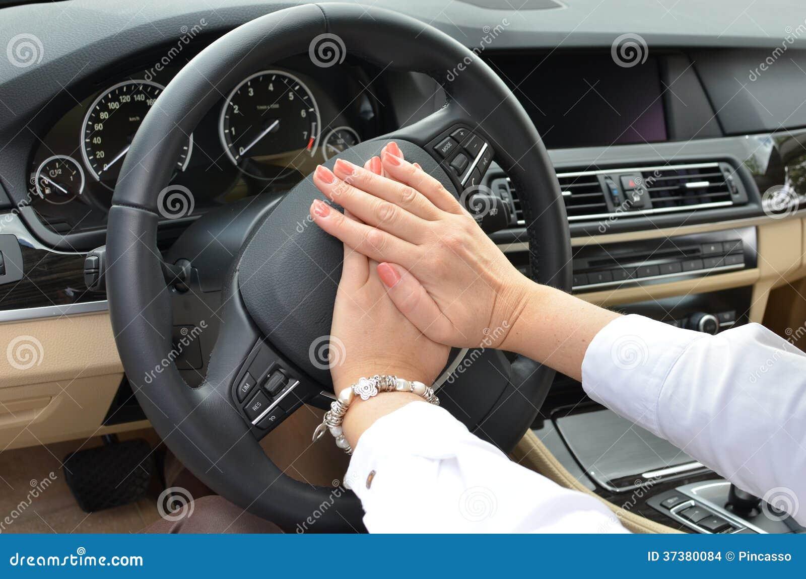 beeping car driver stock images image 37380084. Black Bedroom Furniture Sets. Home Design Ideas