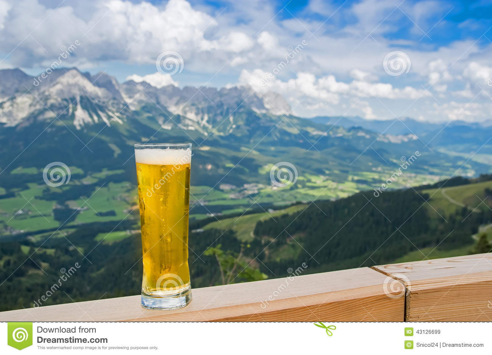 beer in alps stock photo image 43126699