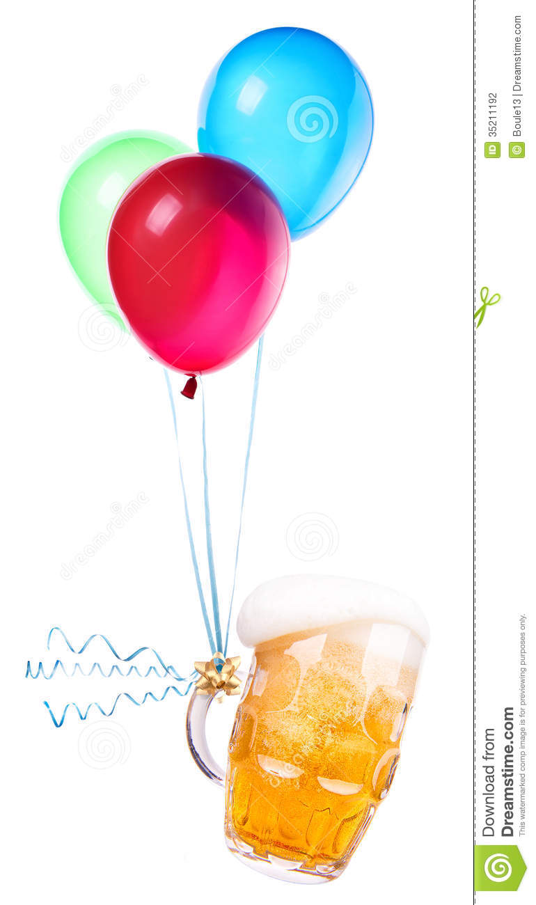 Beer With Balloons Stock Photo Image Of Bubbles Brewery