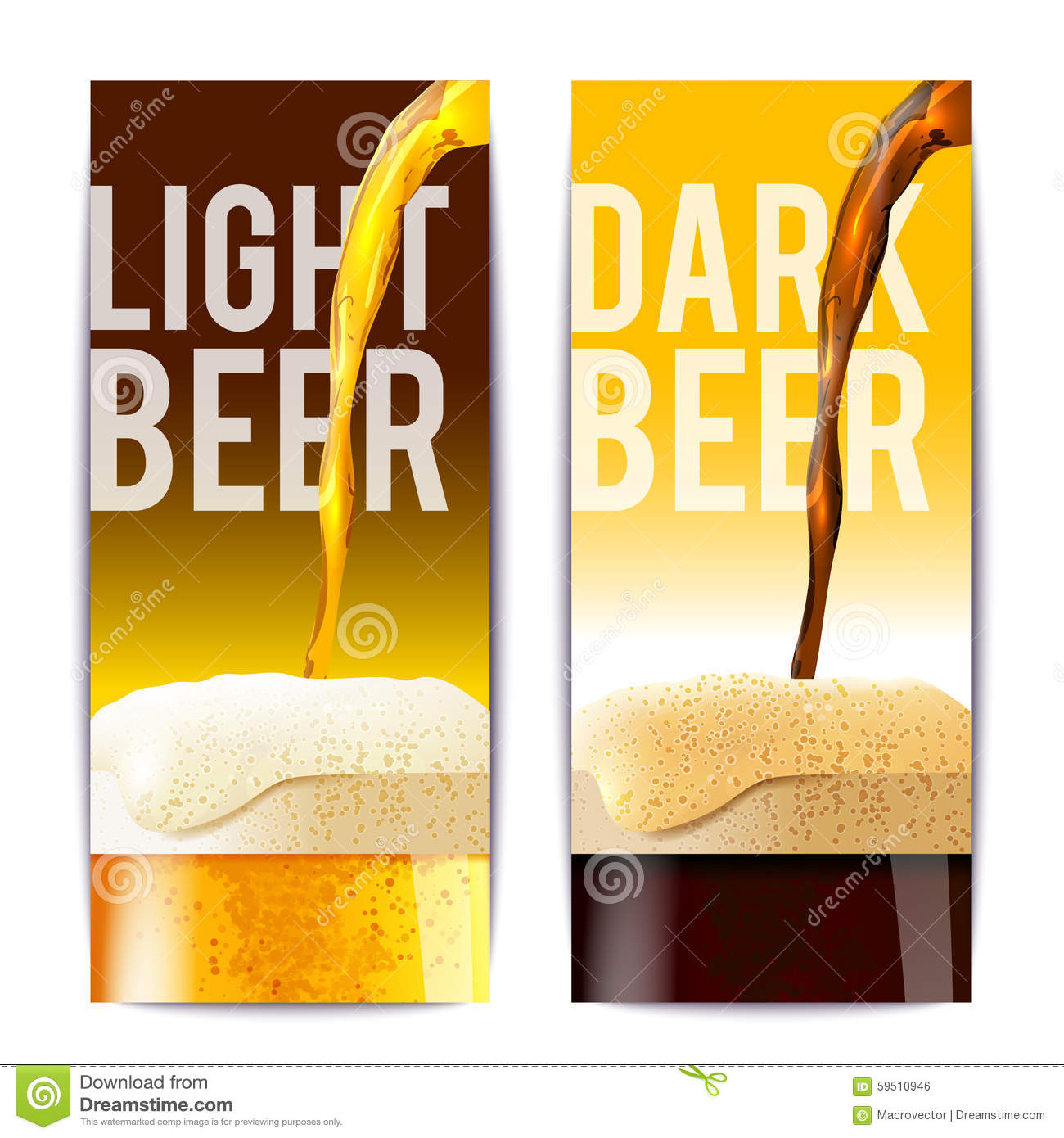 beer banner set stock vector illustration of glass collection