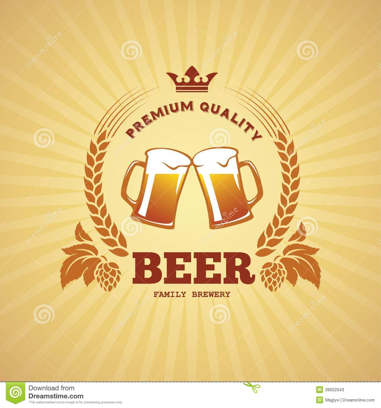 beer banner illustration 39602943 megapixl