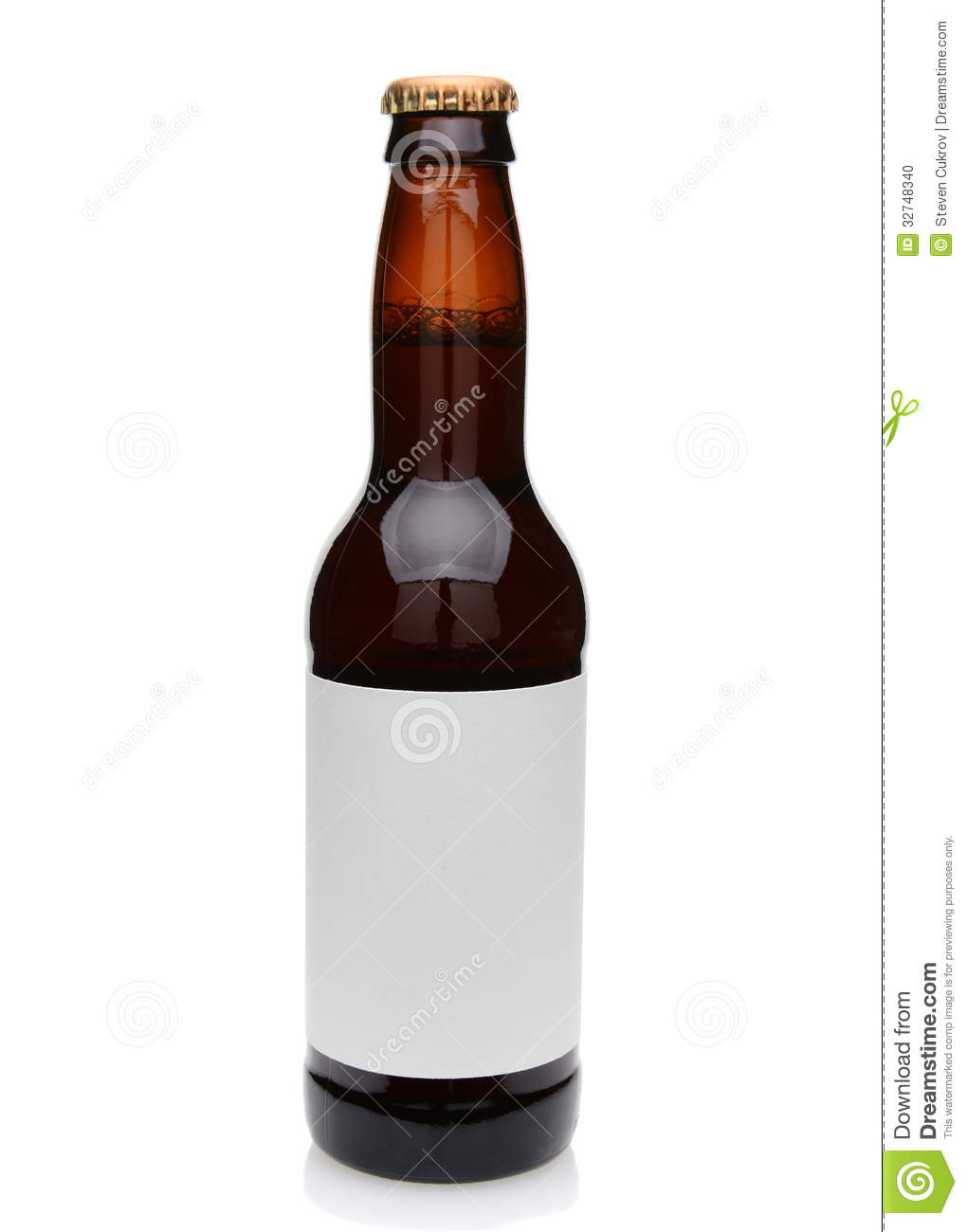 Beer Bottle With Blank Label Stock Photo Image 32748340