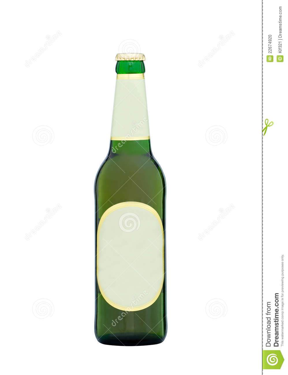 Beer bottle with blank labels stock photo image 22674920
