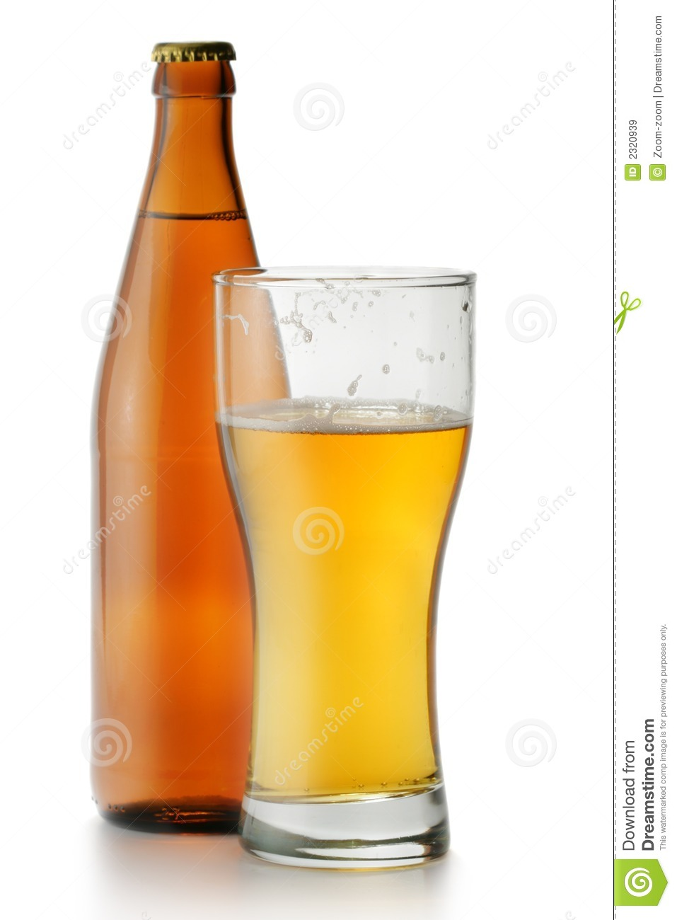 Beer Bottle And Glass Royalty Free Stock Images - Image ...
