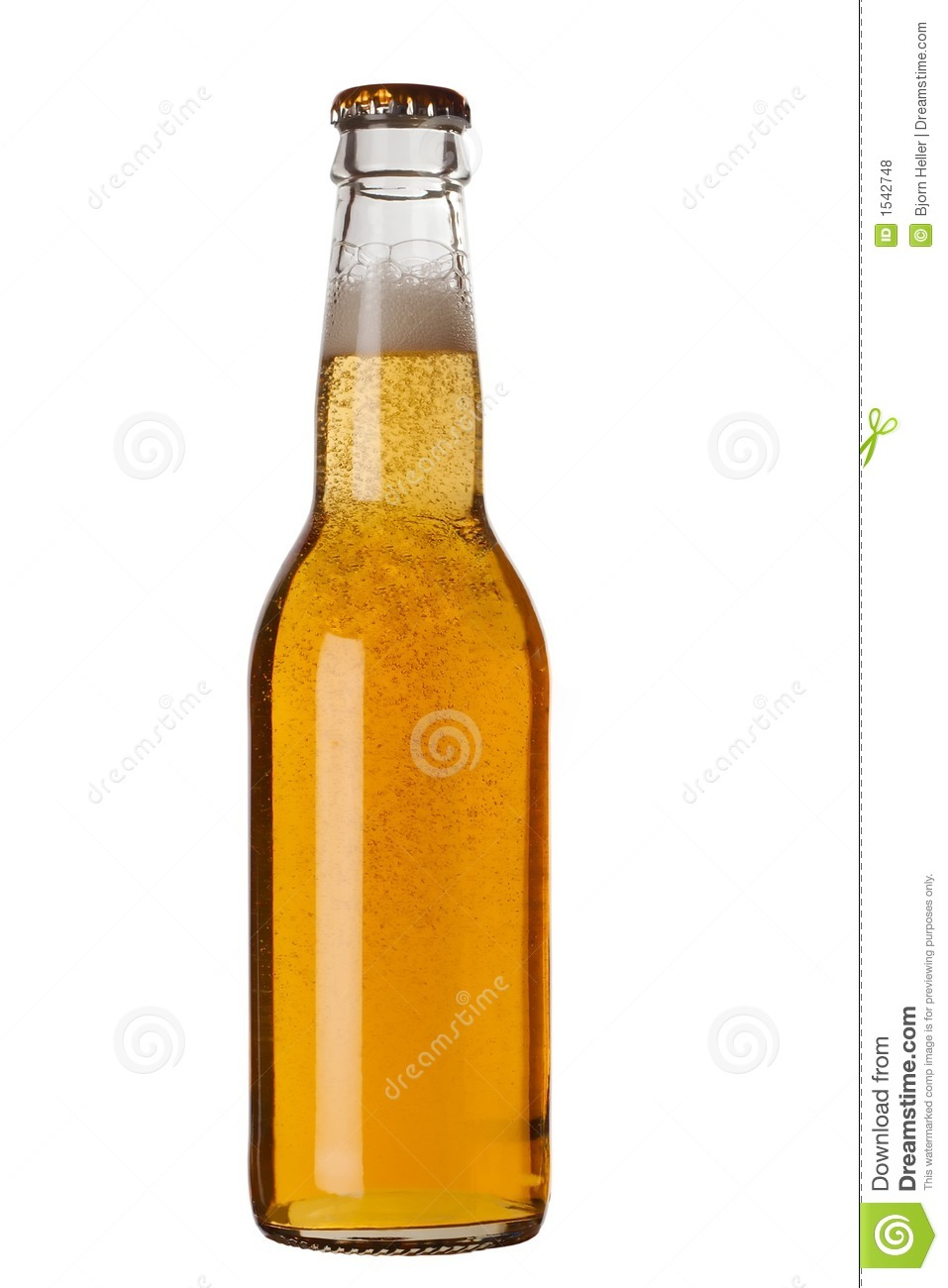 Beer Bottle With Liquid Royalty Free Stock Photos - Image: 1542748