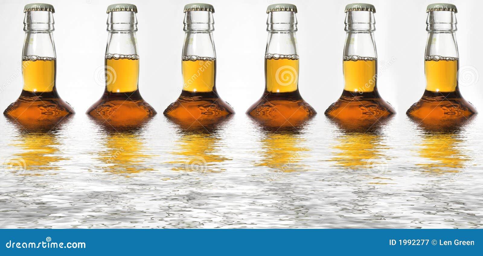 Beer bottle reflections stock image. Image of alcoholism - 1992277