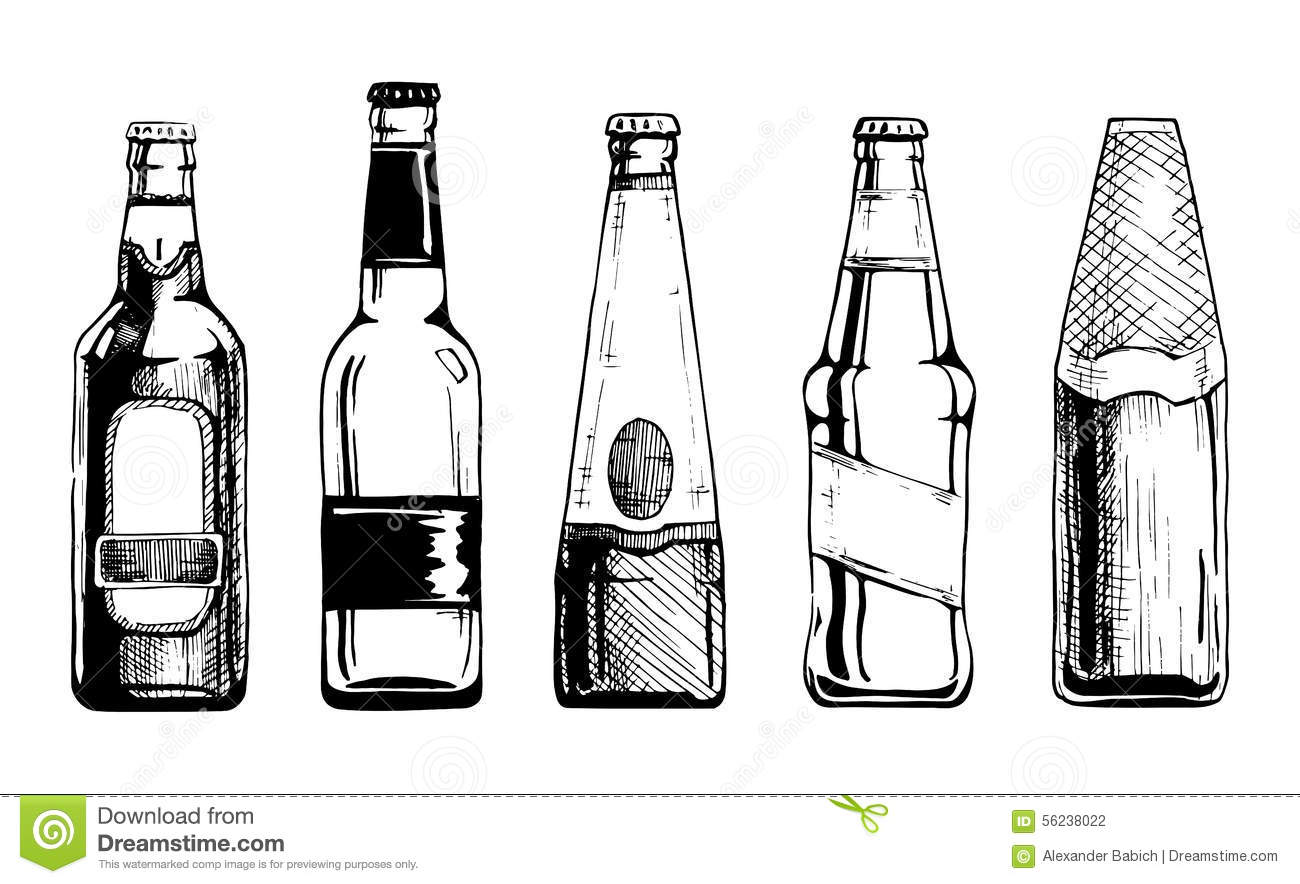 Beer bottle stock illustration. Illustration of alcohol ...