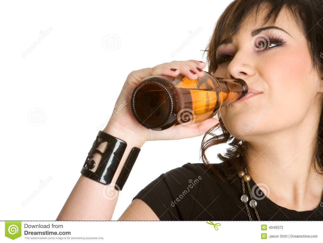 Beer Bottle Woman Stock Photos - Image: 4049373