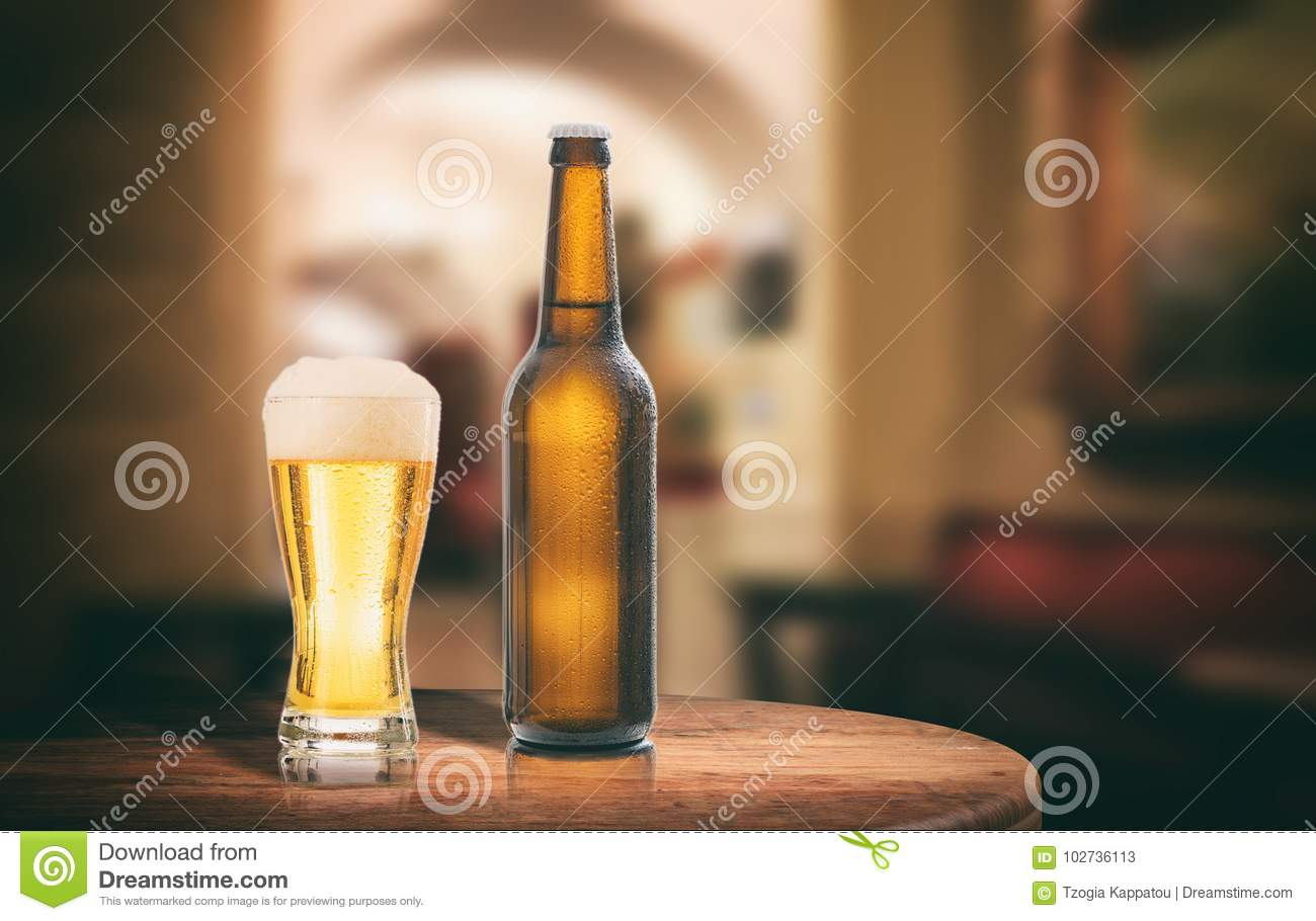 Prime Beer Bottle On A Wooden Table Abstract Bar Background 3D Home Interior And Landscaping Pimpapssignezvosmurscom