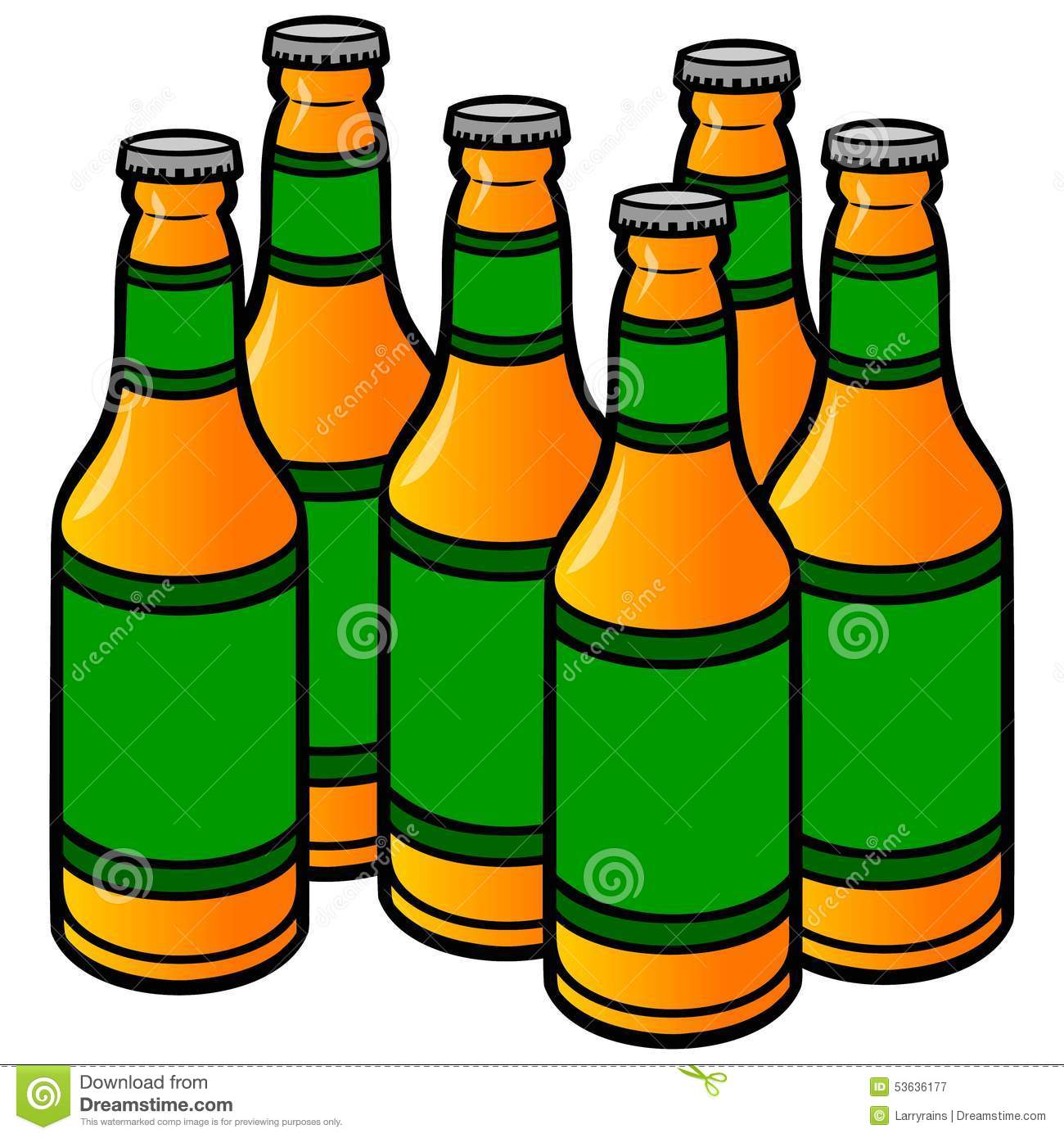 Beer Bottles Stock Vector - Image: 53636177