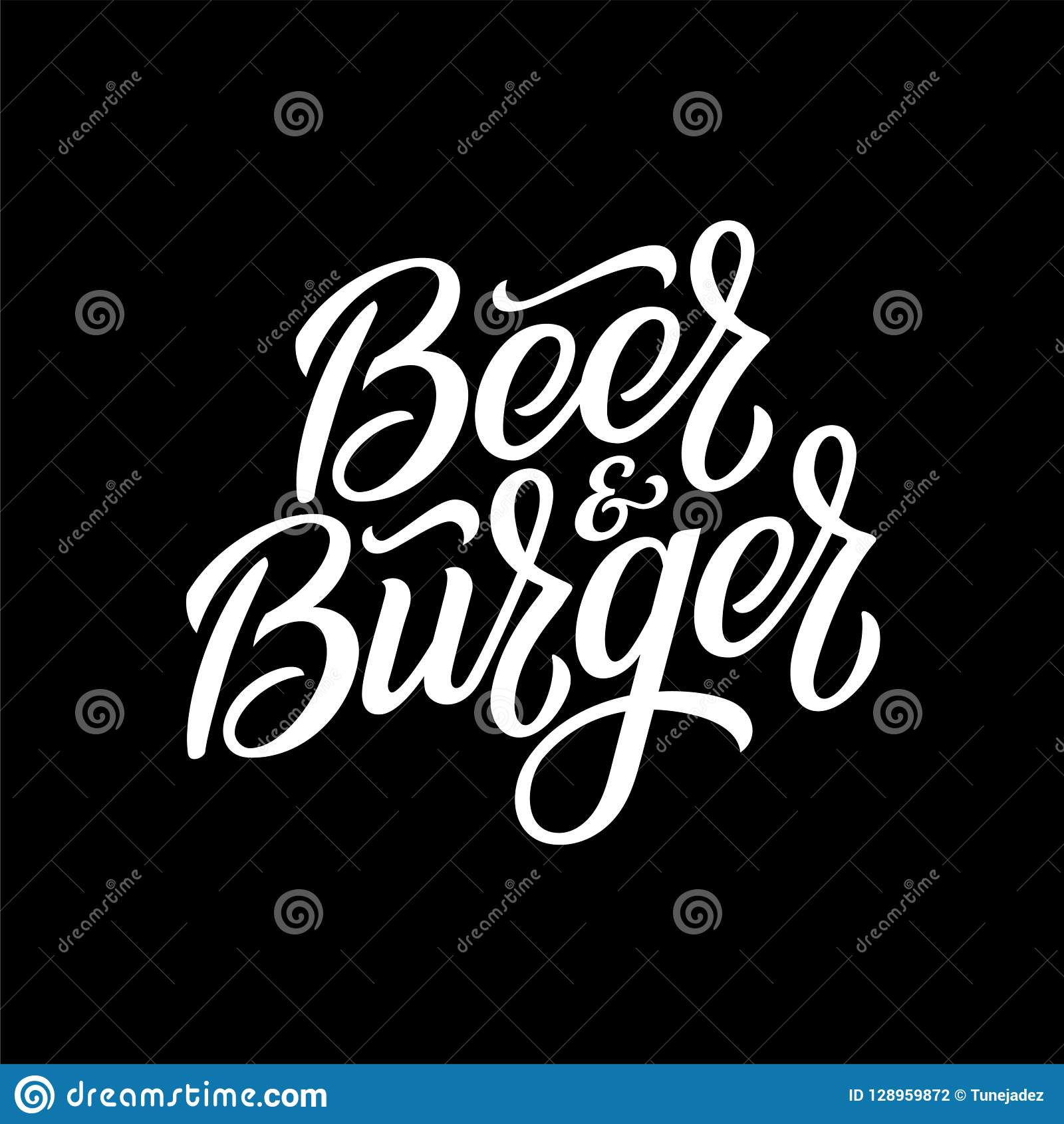 Beer And Burger Pub Emblem Vector Illustration Stock Vector Illustration Of Logo Lettering 128959872
