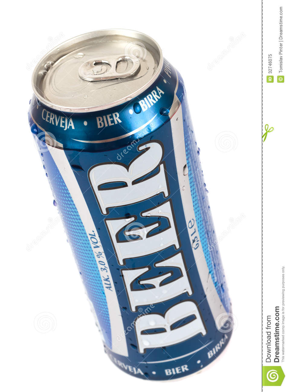 Beer Can Royalty Free Stock Photo - Image: 32746075