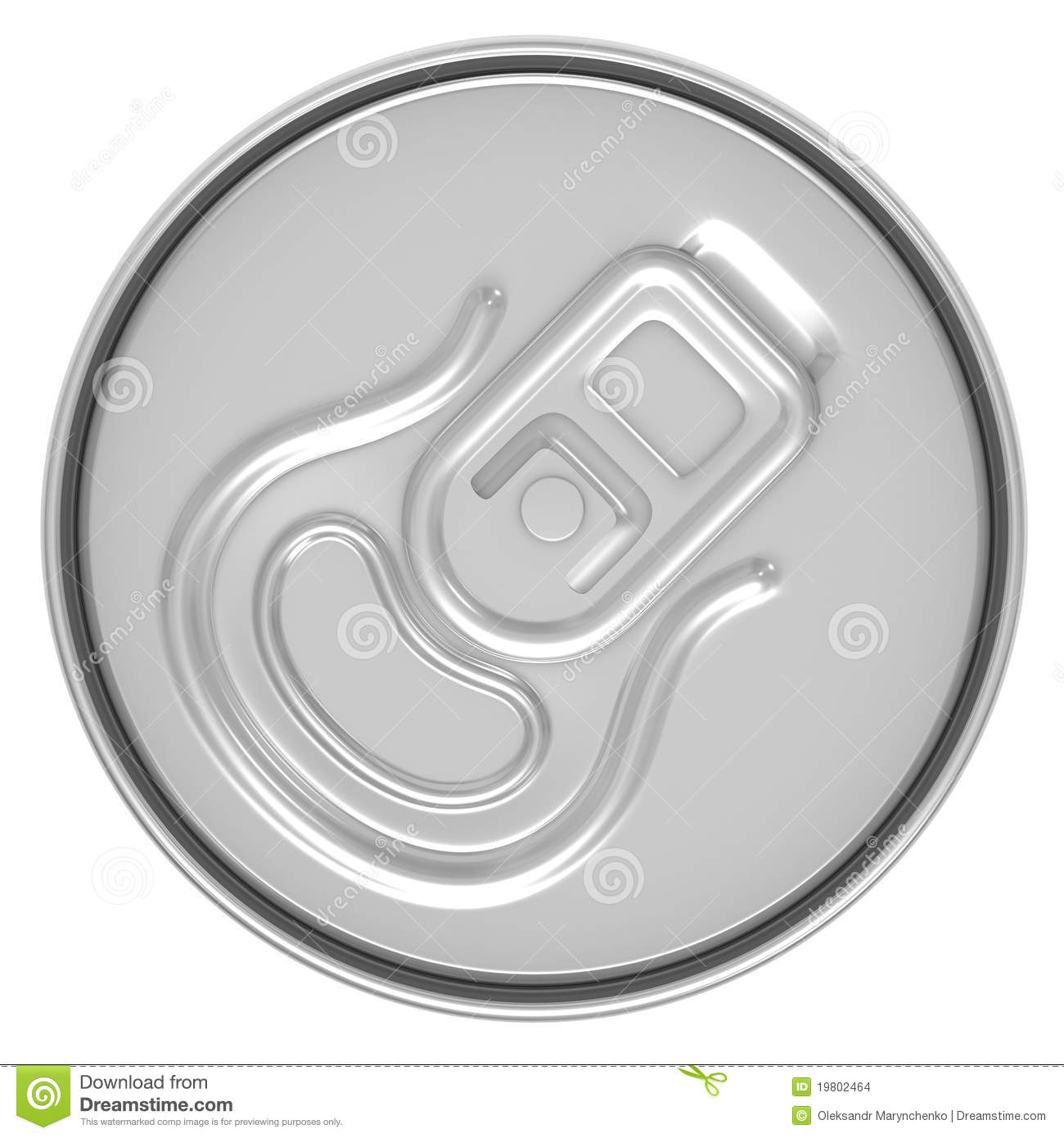 Beer Can Top View Stock Images