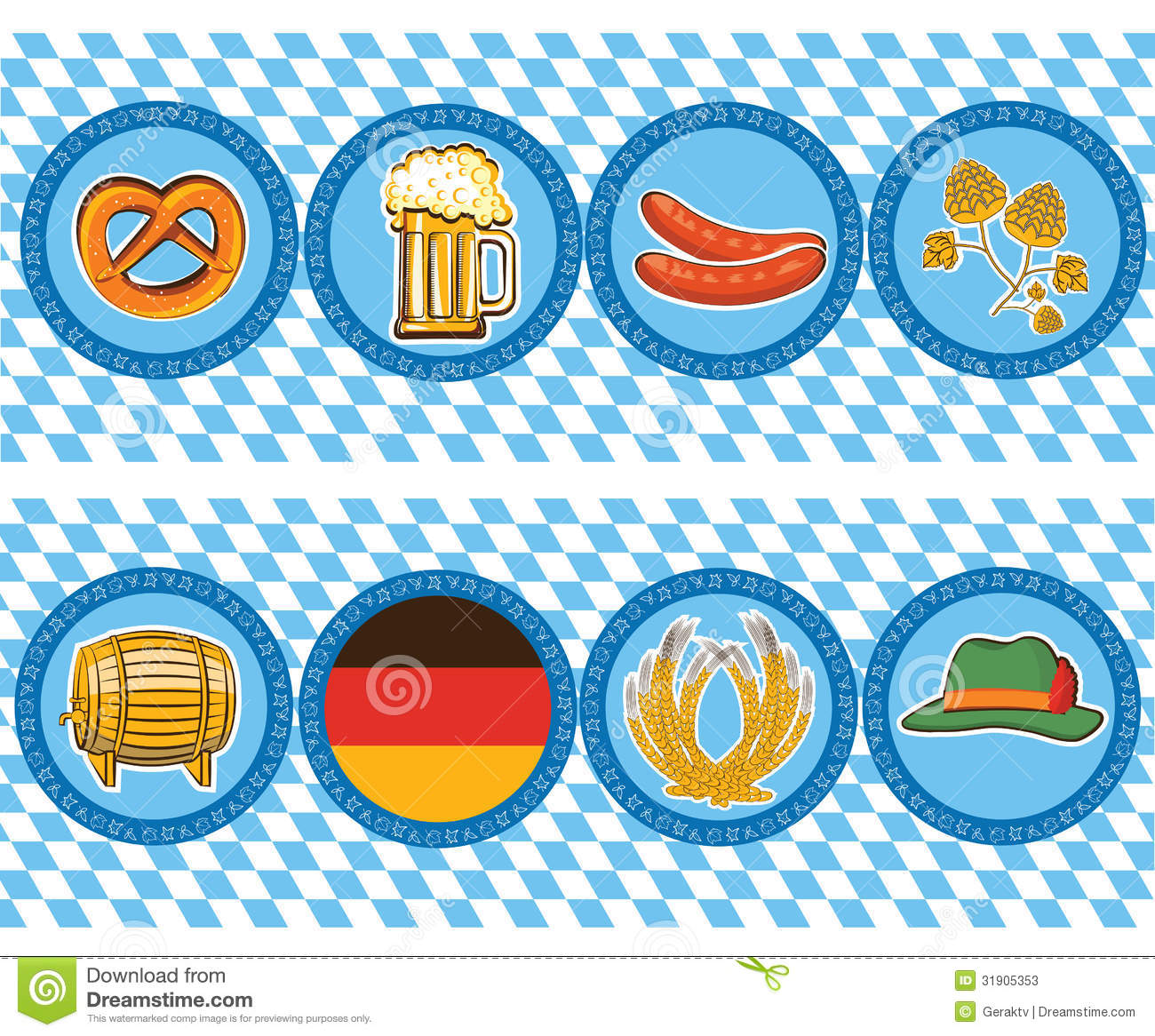 Beer Elements With Oktoberfest Symbol.Vector Label Stock Photos ...