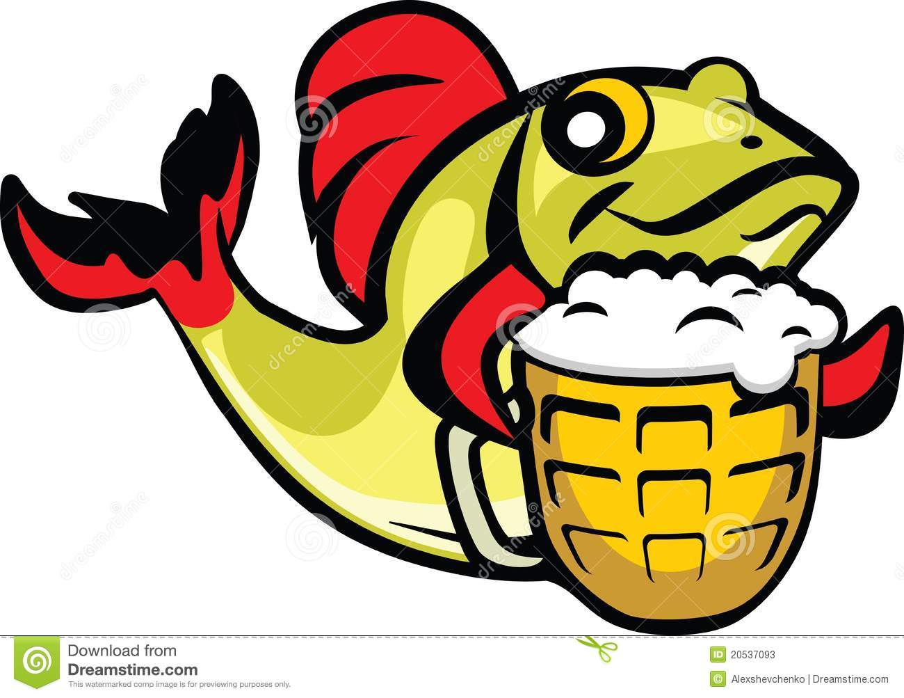 Beer fish stock vector image of green cheers alcohol for Fish and beer