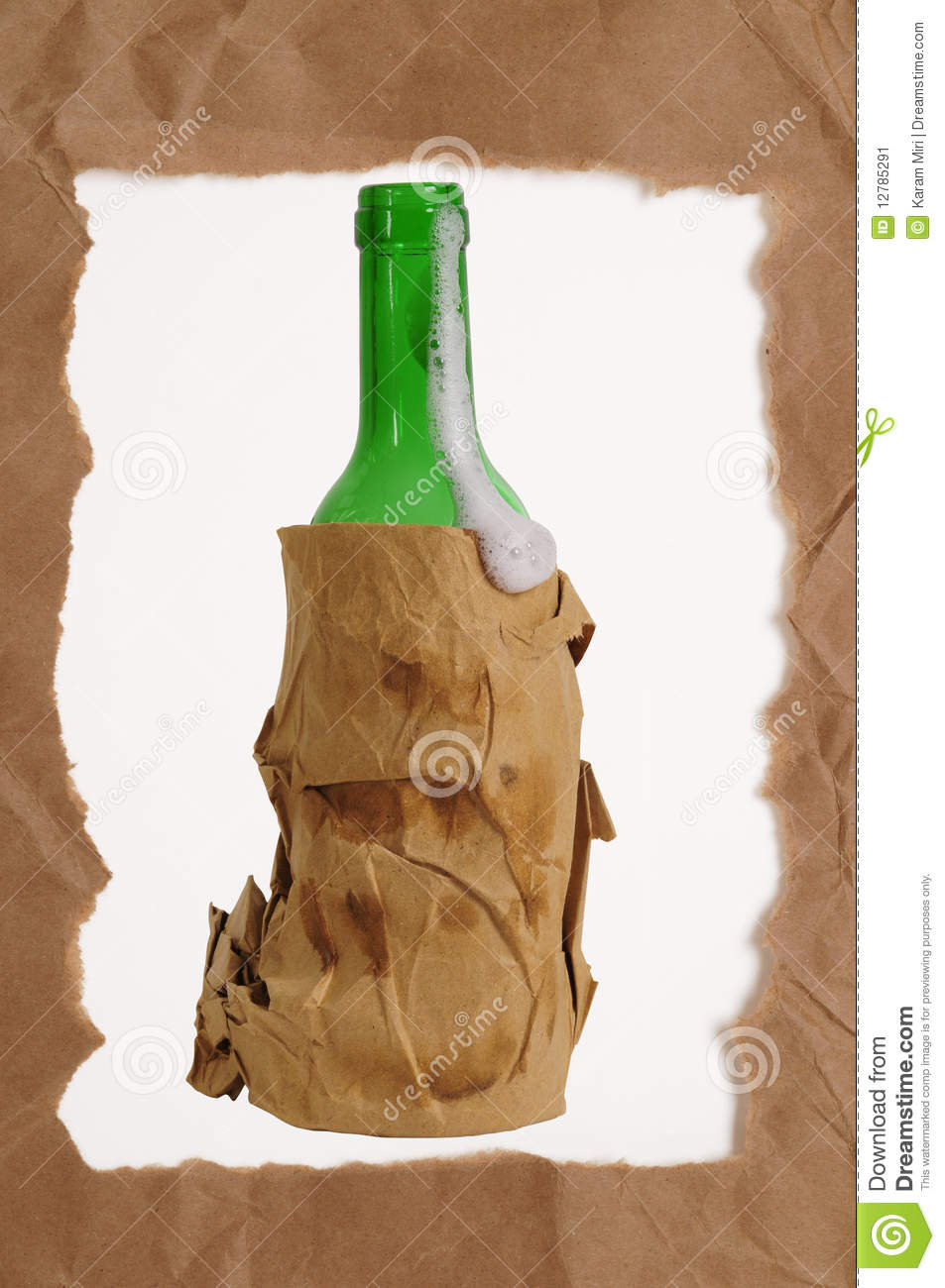 Beer frame stock image image 12785291 for Beer bottle picture frame