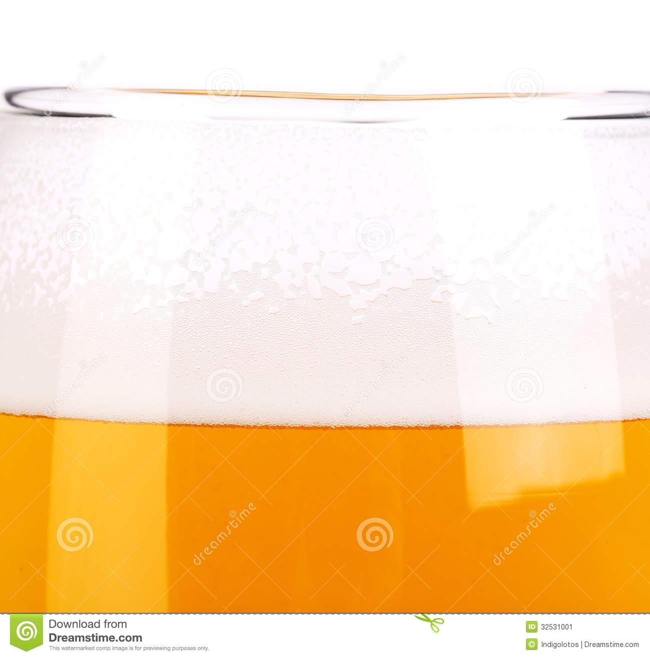 Mumty Window Design: Beer Glass Close Up. Froth. Background. Stock Image