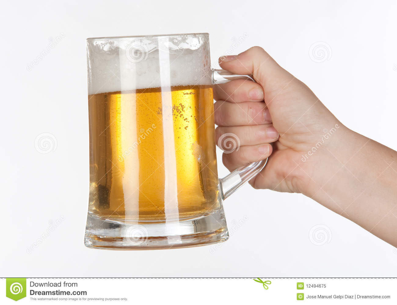 Beer In A Glass Jar Royalty Free Stock Photo