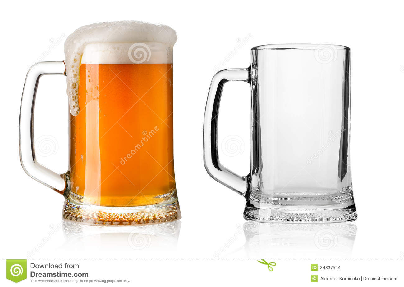 Beer Glass Stock Images Image 34837594