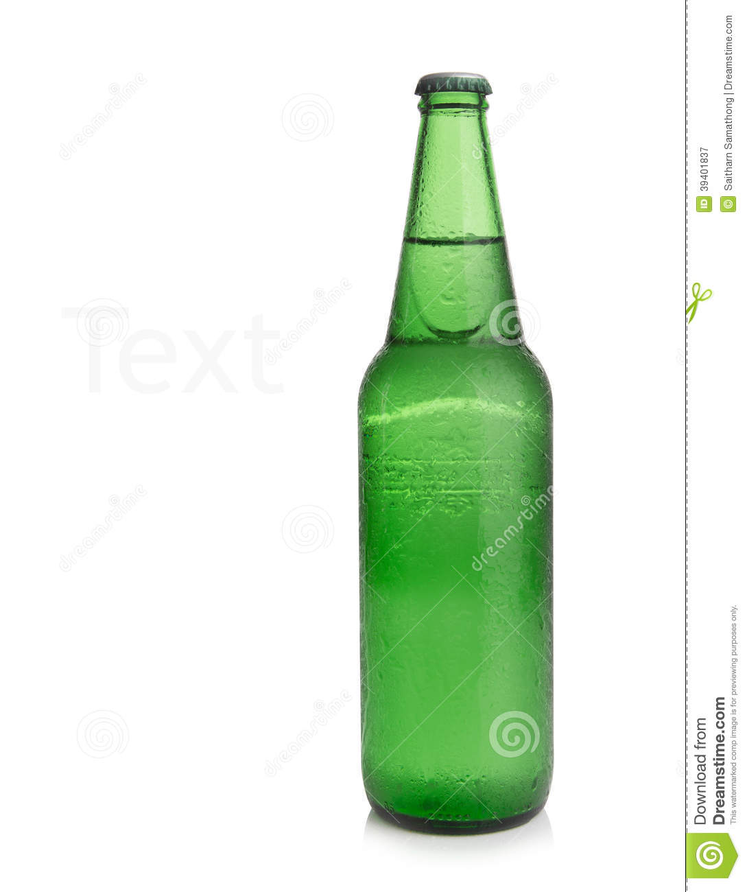 Cool white background - Background Beer Bottle Cool Green Isolated White