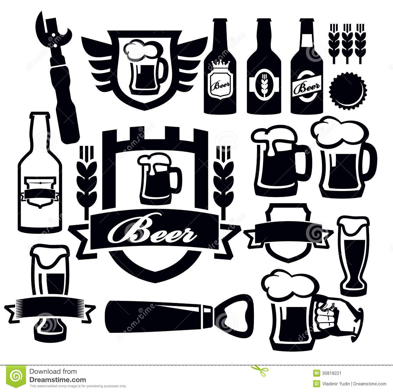 Beer Icon Stock Image - Image: 30818221