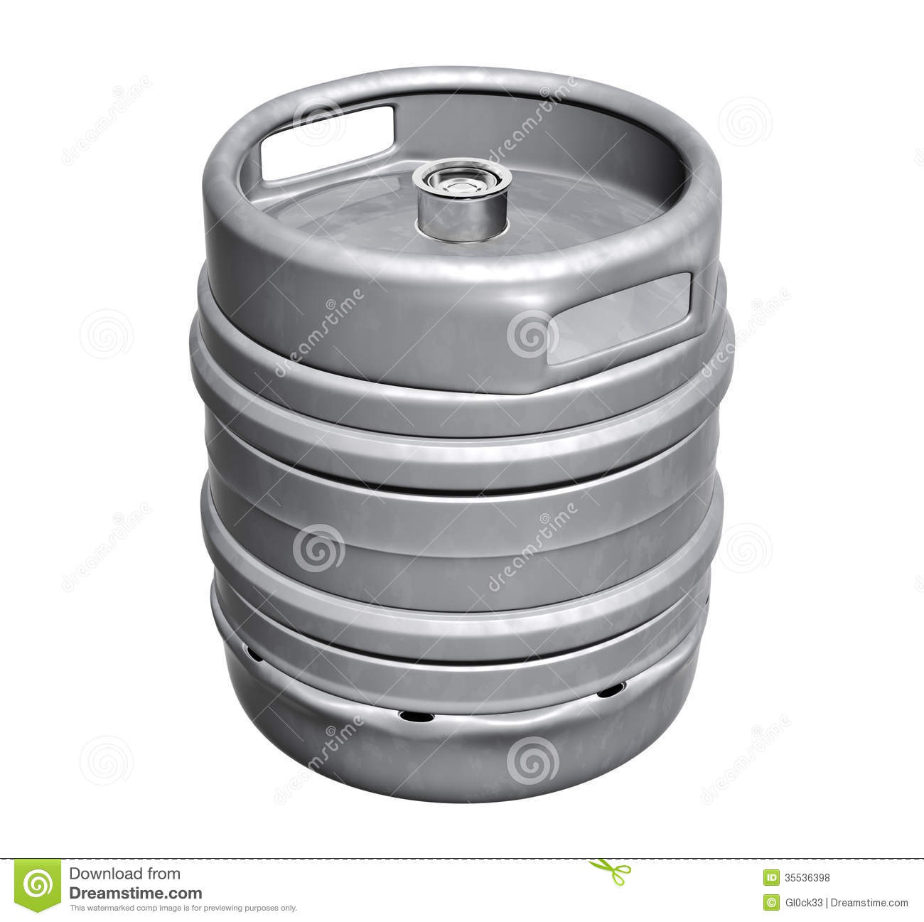 Beer keg - isolated over white background Beer Keg