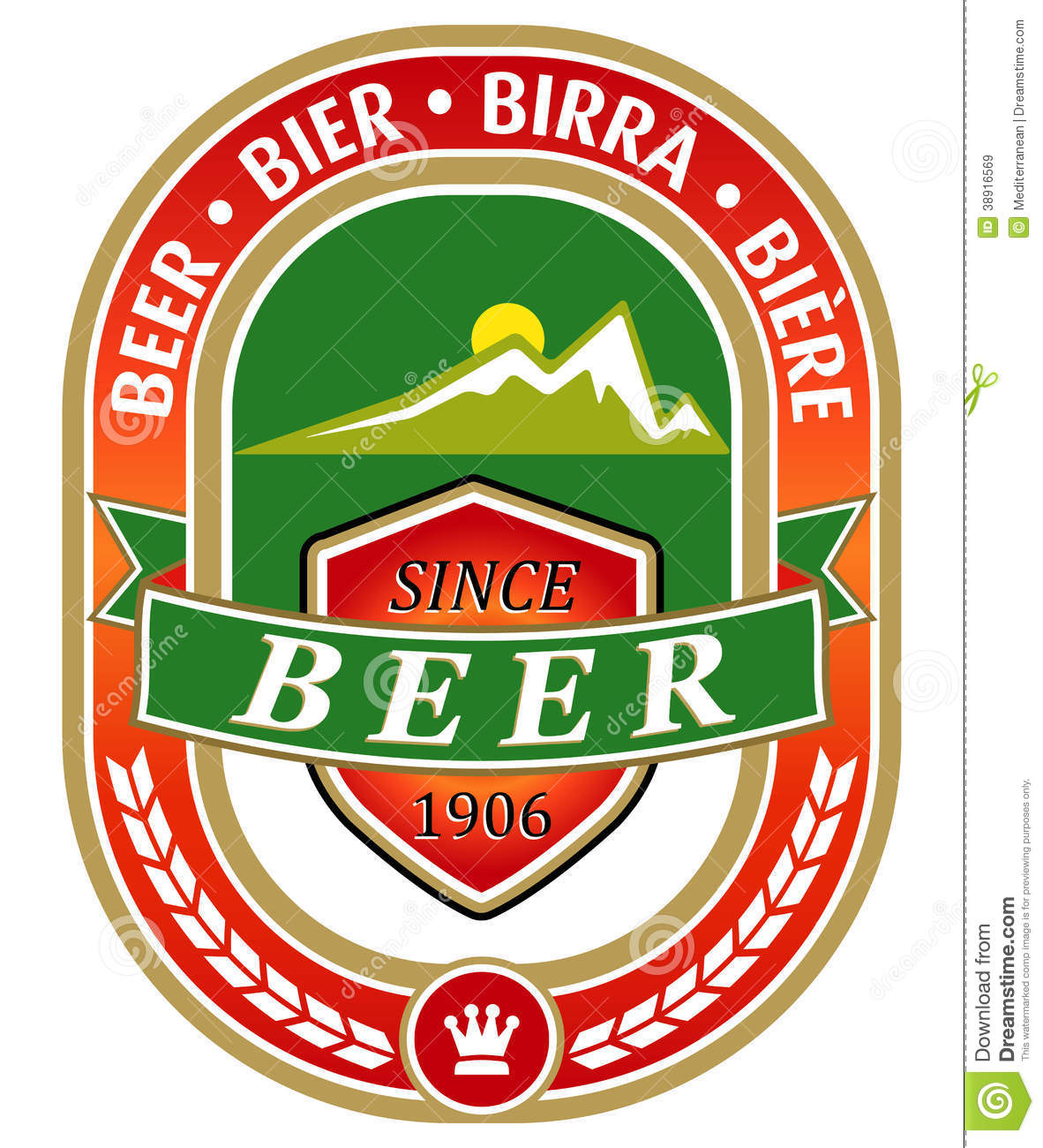 Beer Label Stock Vector - Image: 38916569