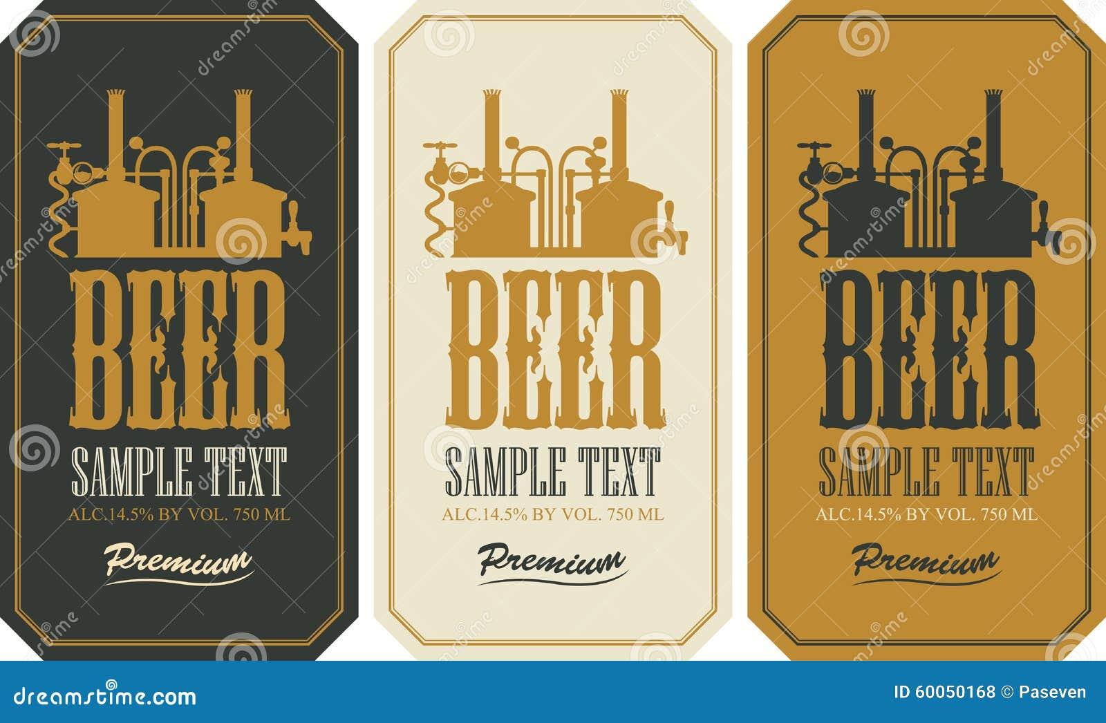 Beer label set stock vector image 60050168 for Beer label machine