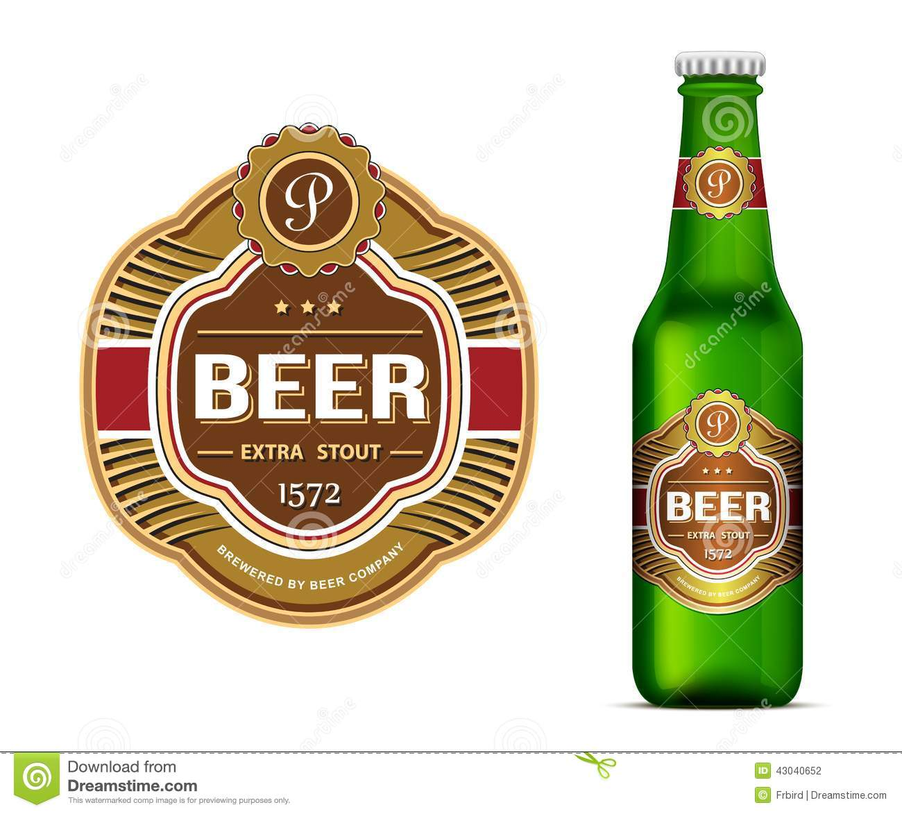 Labeltemplate | Beer Label Template Stock Vector Illustration Of Packing 43040652