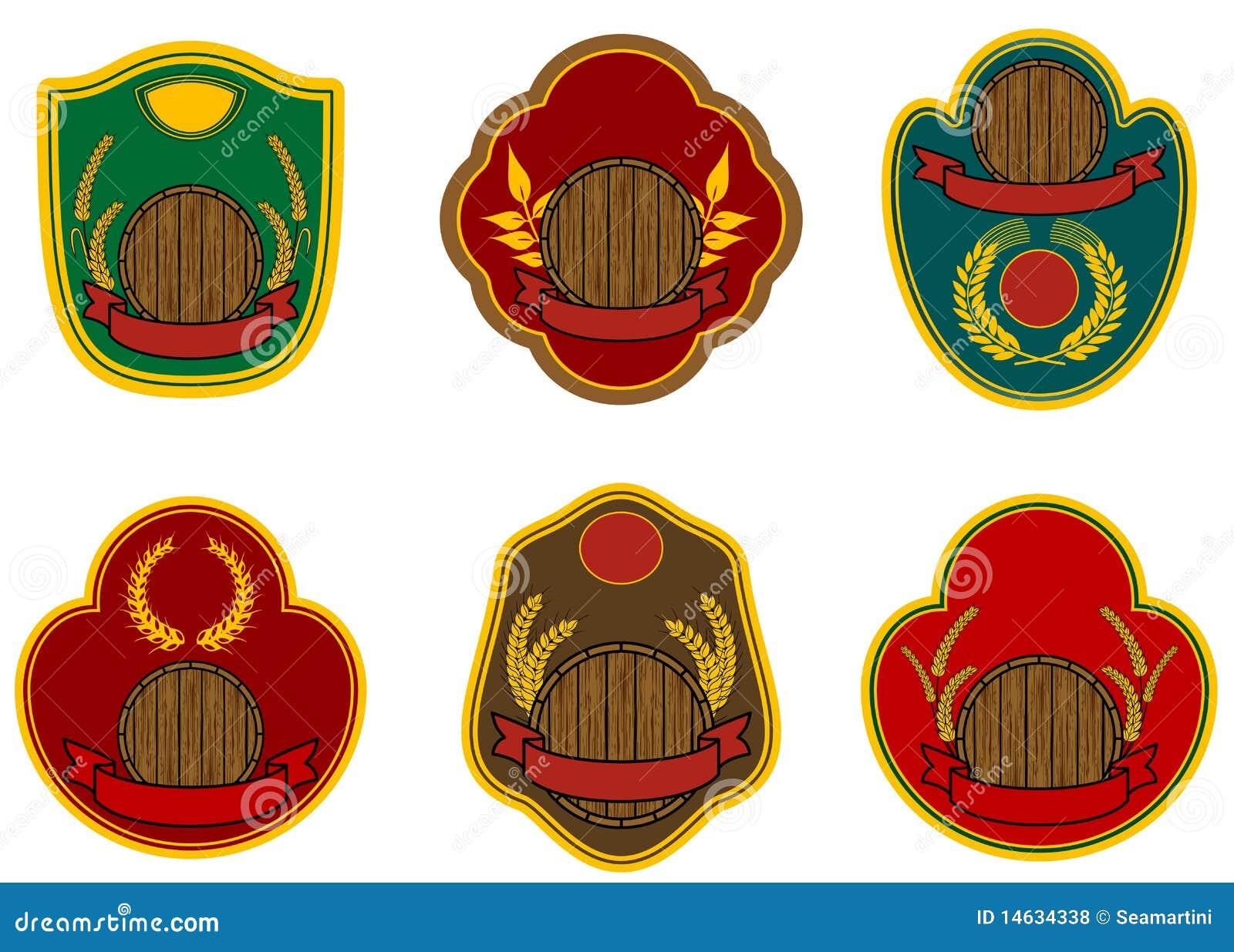 beer labels stock vector illustration of illustration 14634338