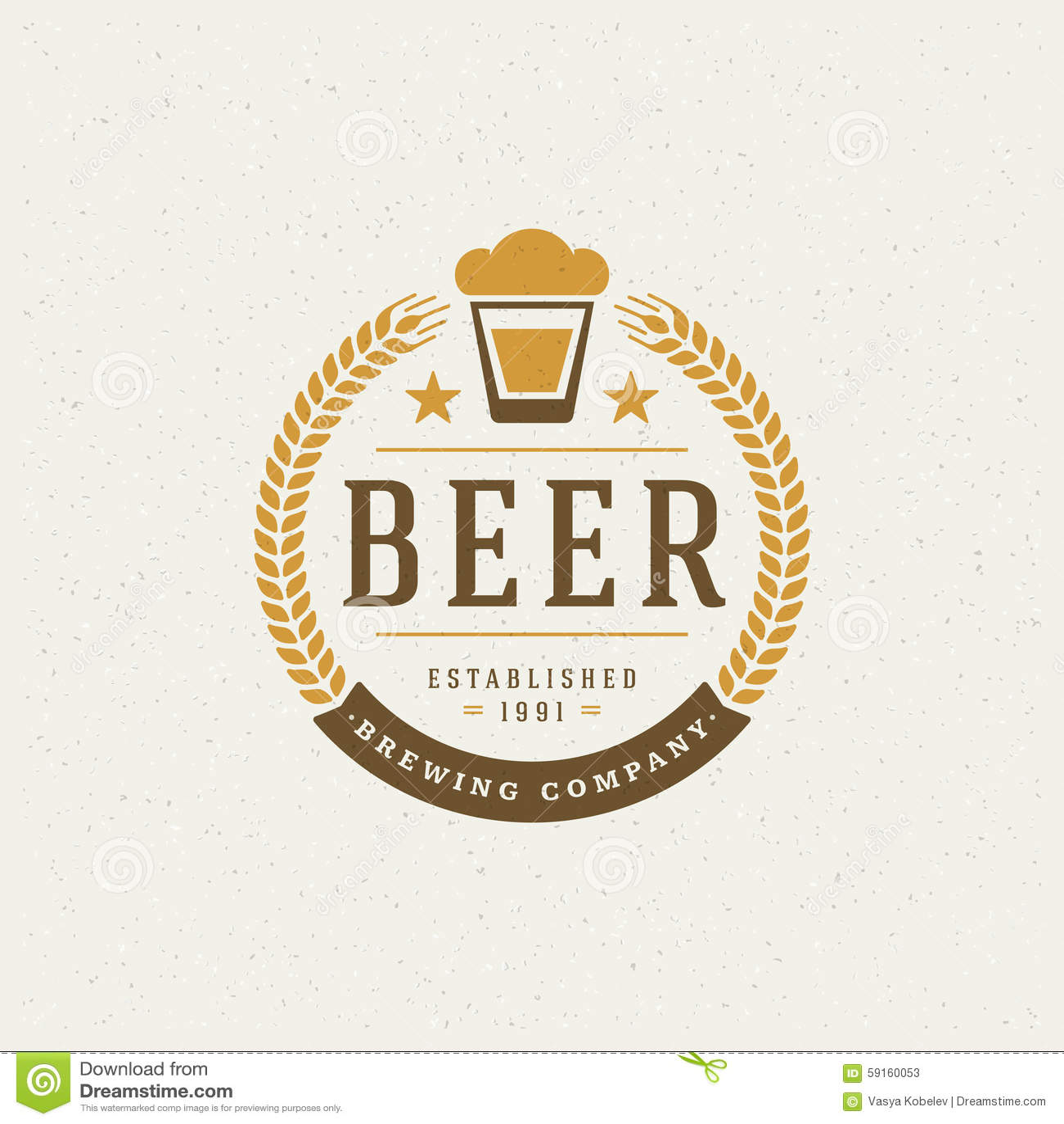 Beer Logo Design Element Stock Vector Image 59160053