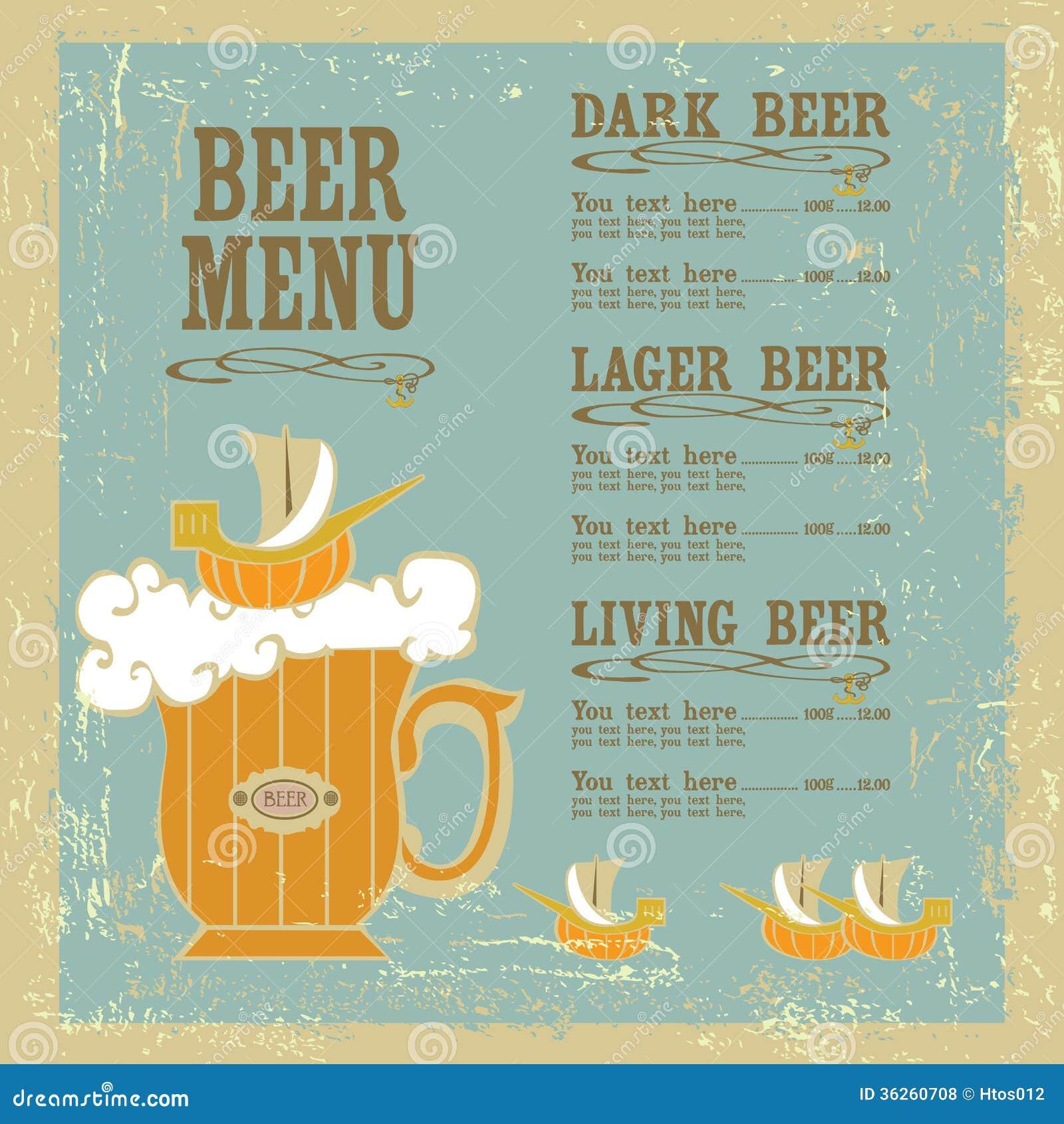Beer Menu Royalty Free Photos Image 36260708 – Beer Menu