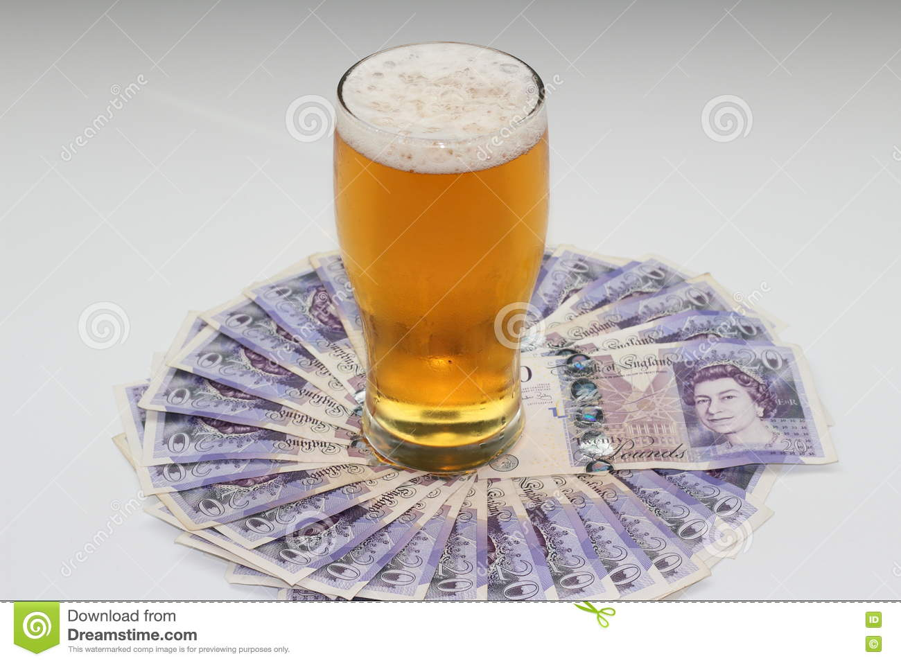 Beer money editorial photography  Image of money, notes