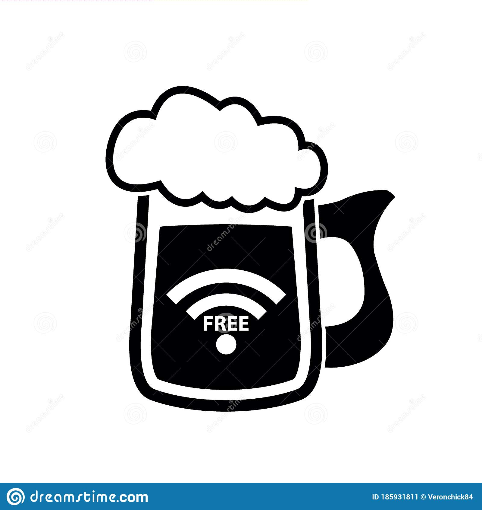 Beer Mug Icon Free Wifi Beer Mug Icon Vector Beer Glass Logo Beer Advertising Stock Vector Illustration Of Isolated Alcohol 185931811
