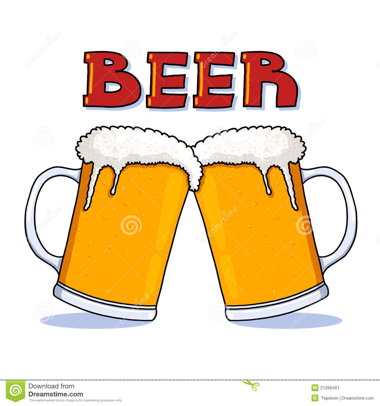 Beer Mugs Illustration Stock Image - Image: 21266401 Animated Beer Cheers