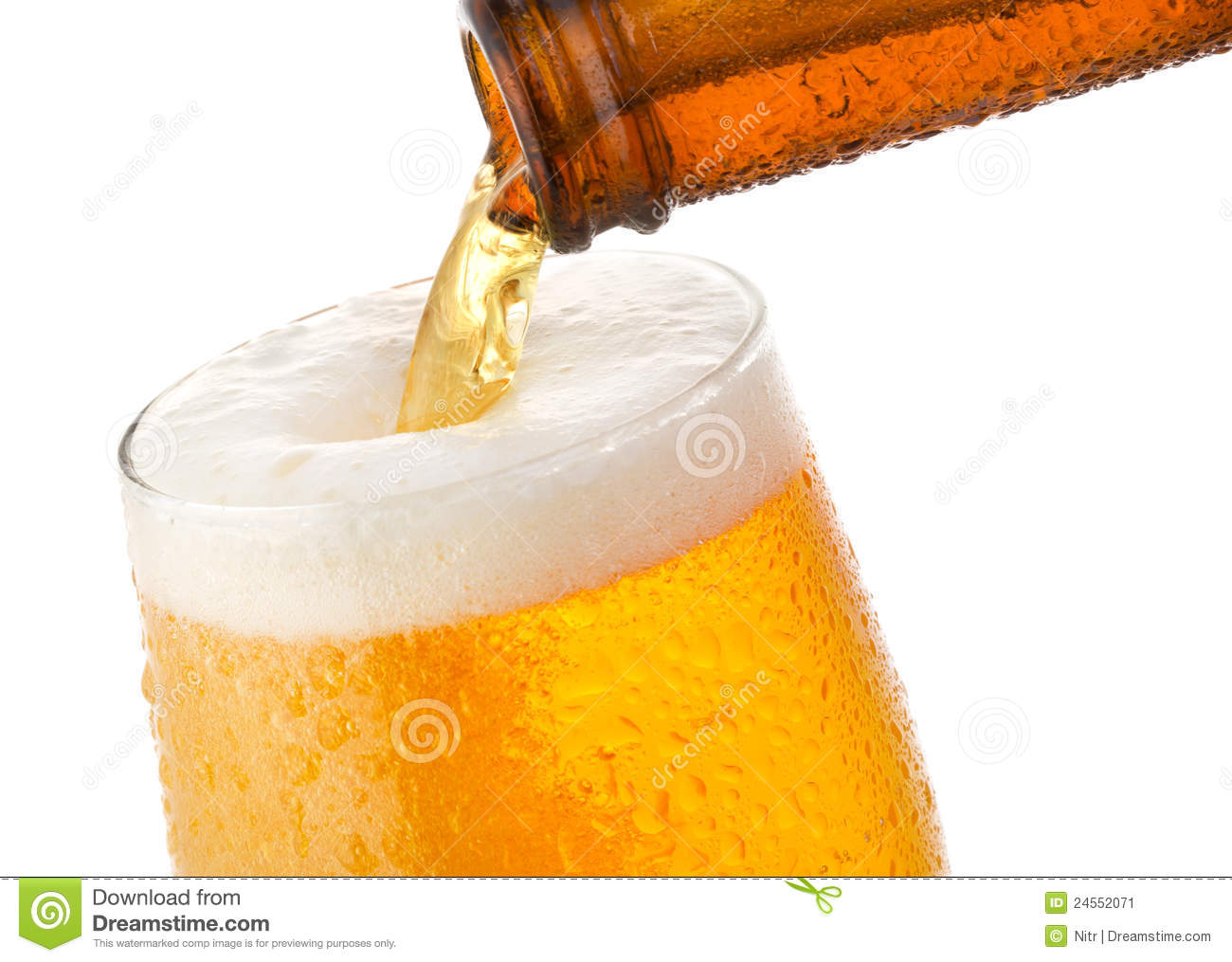 beer pouring into glass stock image image of bubble 24552071
