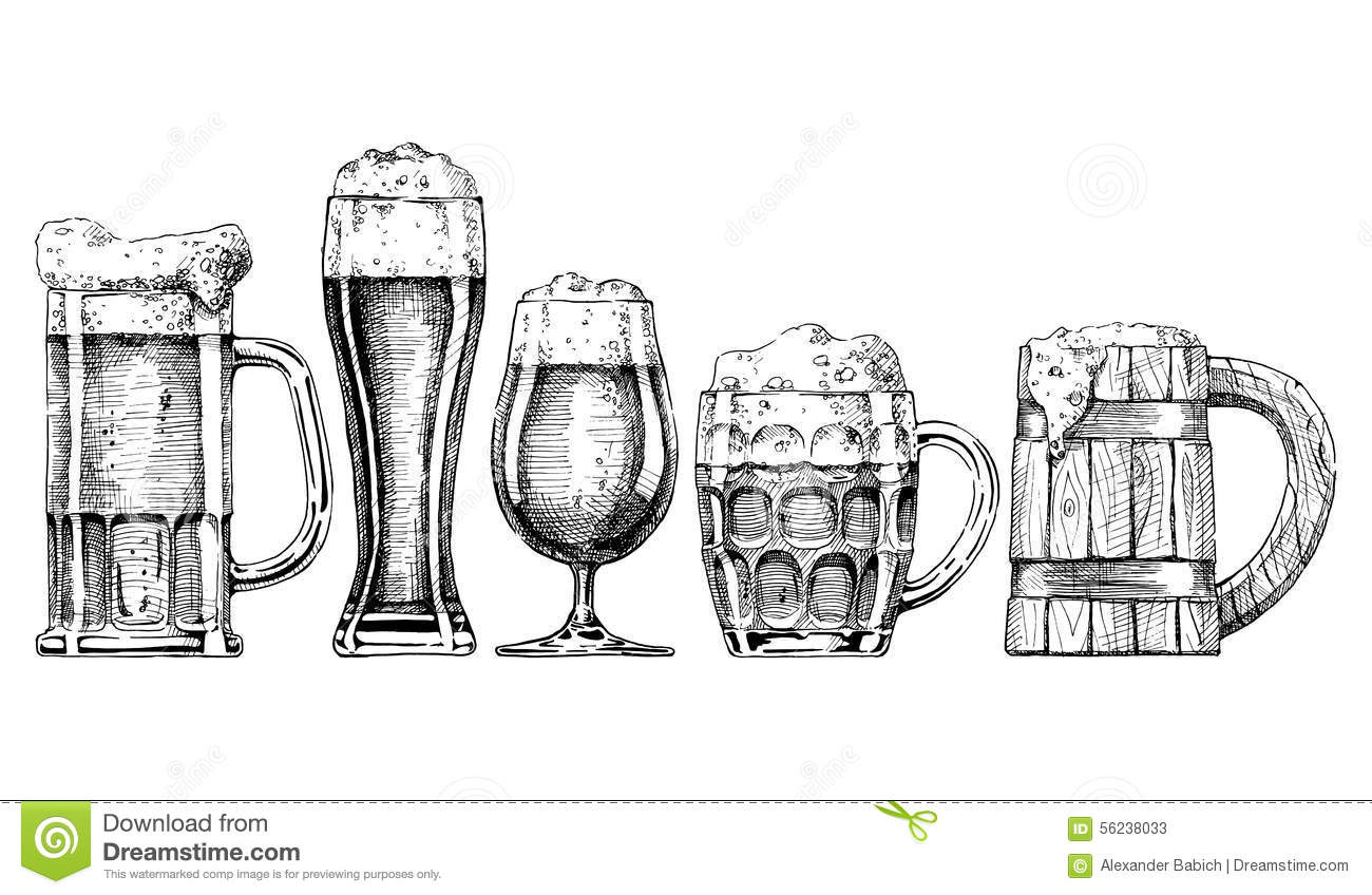 Vintage Beer Mug Illustration