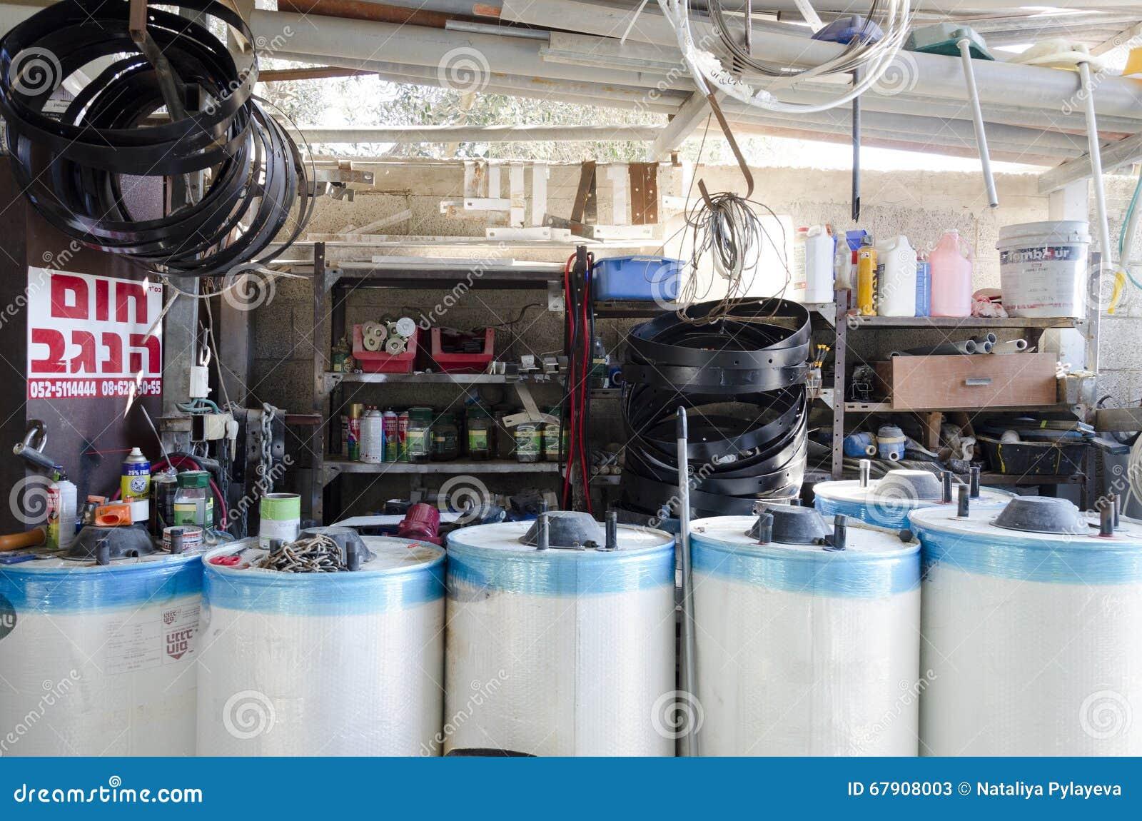 Beer-Sheva, Israel. February 29 - Solar boilers