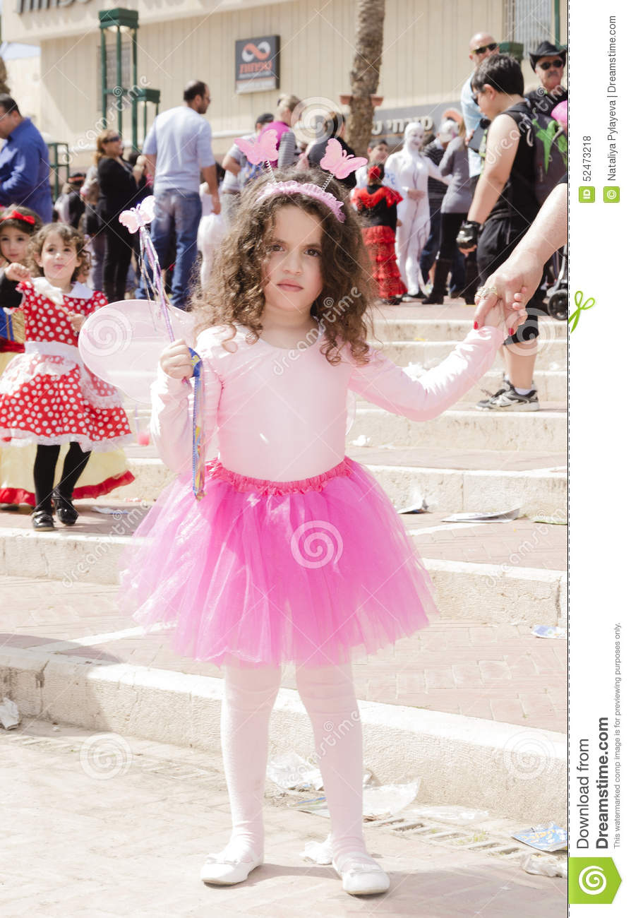 Beer Sheva Israel  city photos : Beer Sheva, ISRAEL March 5, 2015: Girl in a pink blouse and skirt ...