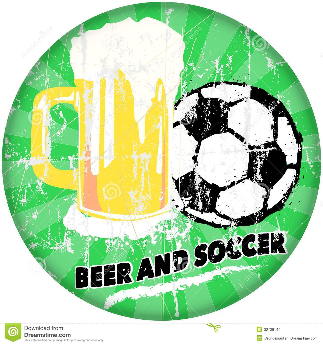 Beer And Soccer Stock Images - Image: 32739144
