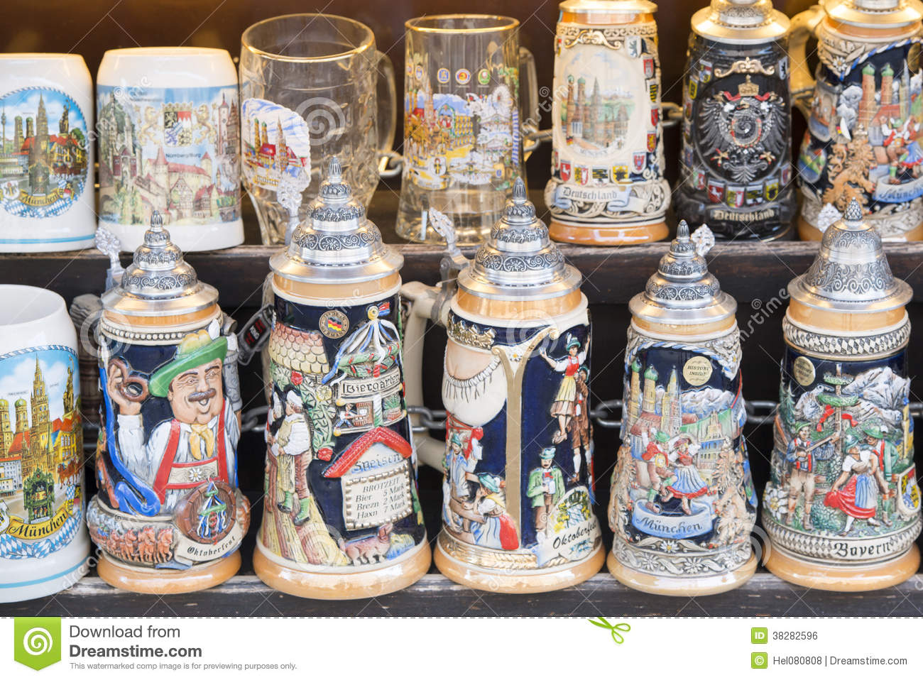 Beer Stein As Souvenirs Royalty Free Stock Image Image