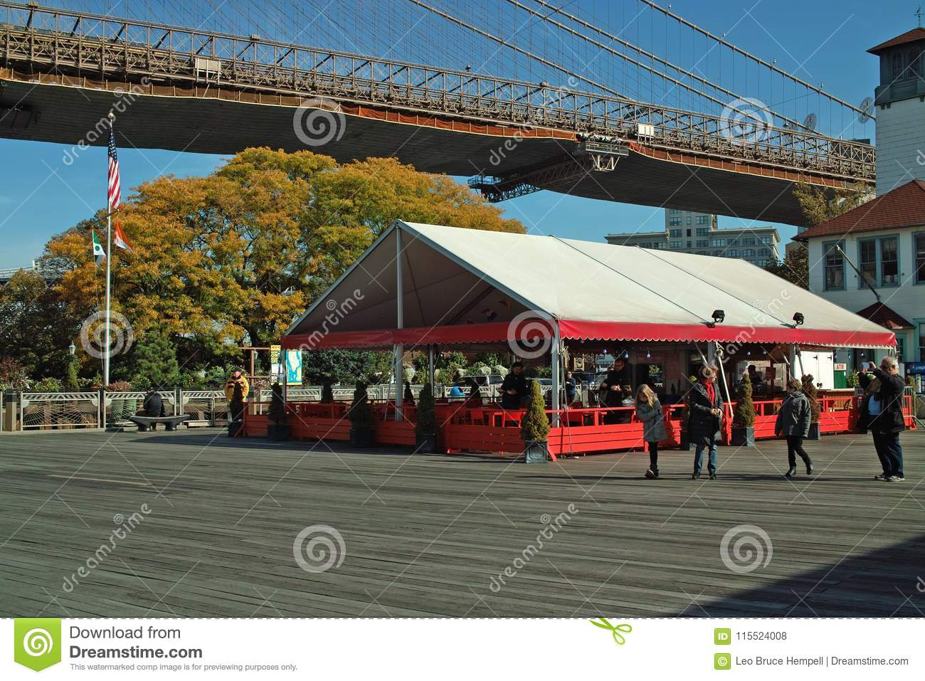 Beer Tent and Ice Cream Factory, Brooklyn New York, USA