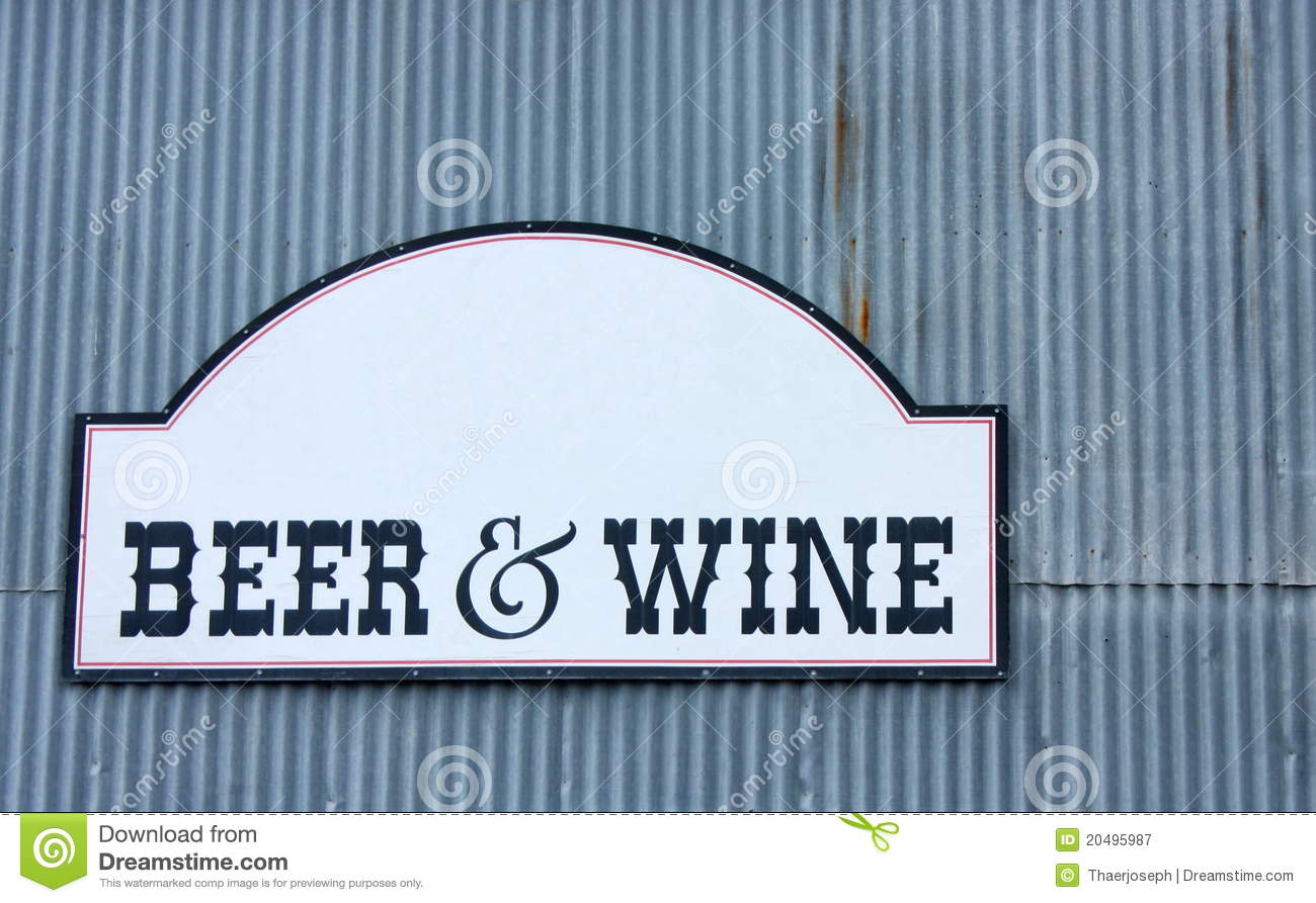 beer and wine sign royalty free stock photography image