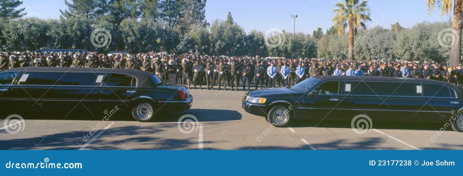 Beerdingungsfeier für Polizeibeamten,