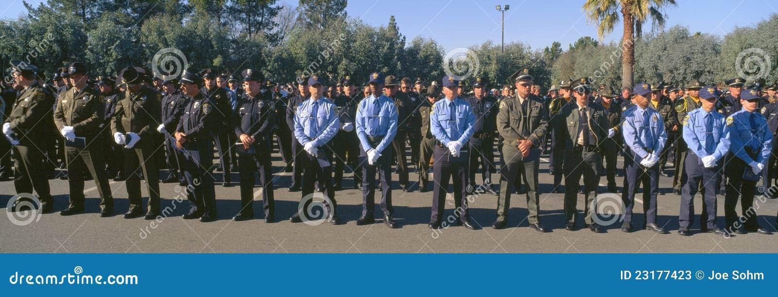 Beerdingungsfeier für Polizeibeamten